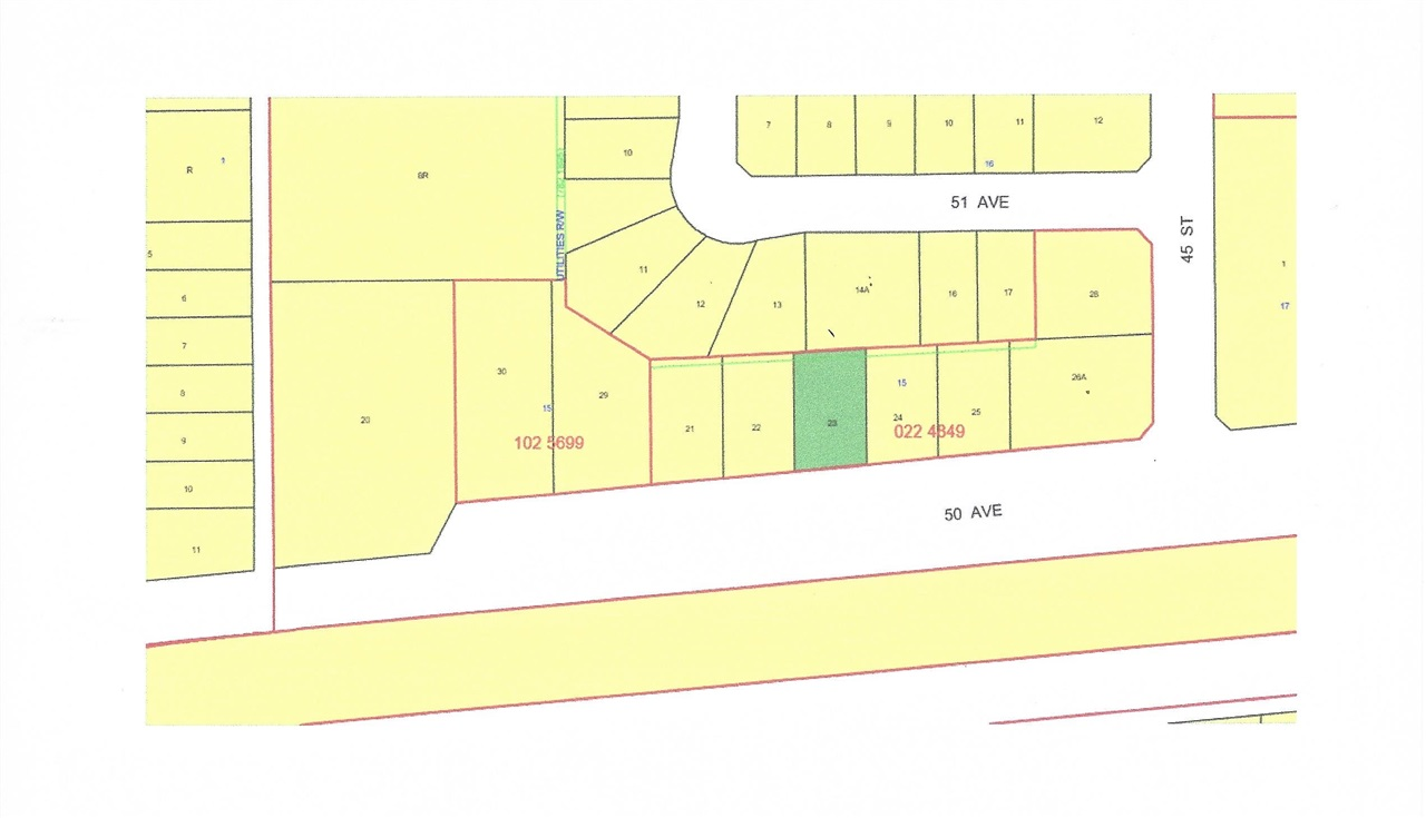 Lot 23 is a 75'x124' residential vacant lot in a newer subdivision. New paved road and sidewalks in place and municipal services at property line. The Village of Warburg is centrally located about thirty minutes from Leduc, Drayton Valley, Stony Plain, Nisku and the Edmonton International Airport and 15 minutes from Pigeon Lake and Genesee Power Plant.
