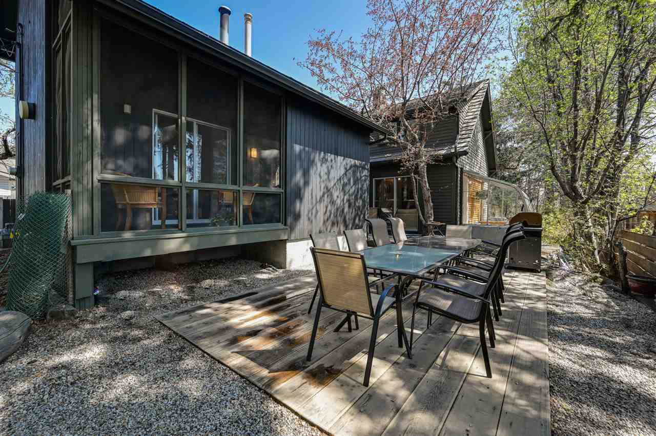This property has the stand alone status of being one of the most interesting homes on the market today. Set on a rare 50'x140' lot in Crestwood, the house has a strong design aesthetic both from the outside lines and the interior spaces. The house has an original east wing, in the 1970's a large 2-storey west wing was added making it an ideal house for families that want to entertain and have quiet space on their own. Entering the original part of the home, the foyer opens to the Lvrm w/ wood burning FP, restored maple floors & access to 3 season sunroom on the south wall which bathes the area in natural light all year round. Drm opens to lovely kitchen. Fully upgraded kitchen w/ clean, contemporary cabinetry, marble counters & high end built in appliances. Upstairs:  large Master bdrm with lovely views of mature trees frm every window. Upgraded 4 pce bath & 2nd bdrm here. Over to the W wing w/ 3rd loft bdrm & full bath upstairs. Main flr fam rm. and wet bar area. Fully upgraded. This home is a must see!
