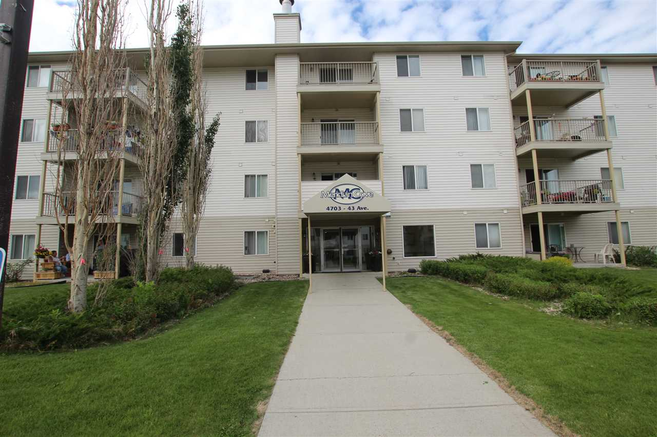 Check out this tastefully renovated 3rd floor corner unit in Meridian Cove. One of the largest floor plans in the complex! Open concept kitchen and living area with lots of windows. 2 spacious bedrooms + den. Master bedroom has a walk-through closet and 4 pc. ensuite. Versatile den could be used as a craft room or office space. Lovely north-facing balcony. NEW kitchen with granite counter tops, NEW vinyl plank and carpet, NEW fixtures, and NEW paint, baseboards and trim. In-suite laundry and heated underground parking complete the package. Conveniently located within walking distance to shopping, school and parks!