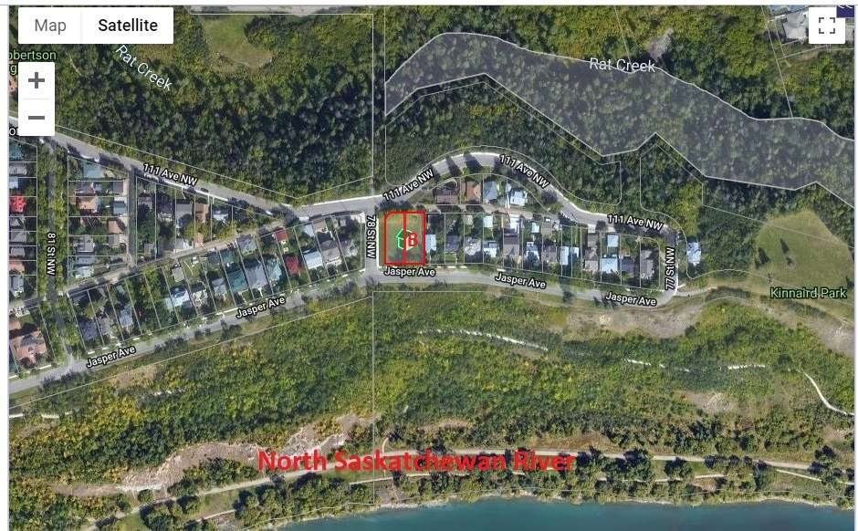 Build your dream home overlooking the North Saskatchewan River! Tucked away in Cromdale is a great 50 foot wide by 130 foot lot just waiting to have a home. Located on a dead end street and sandwiched between the River Valley and Rat Creek, this is a highly desirable location. Visit REALTOR website for more information.