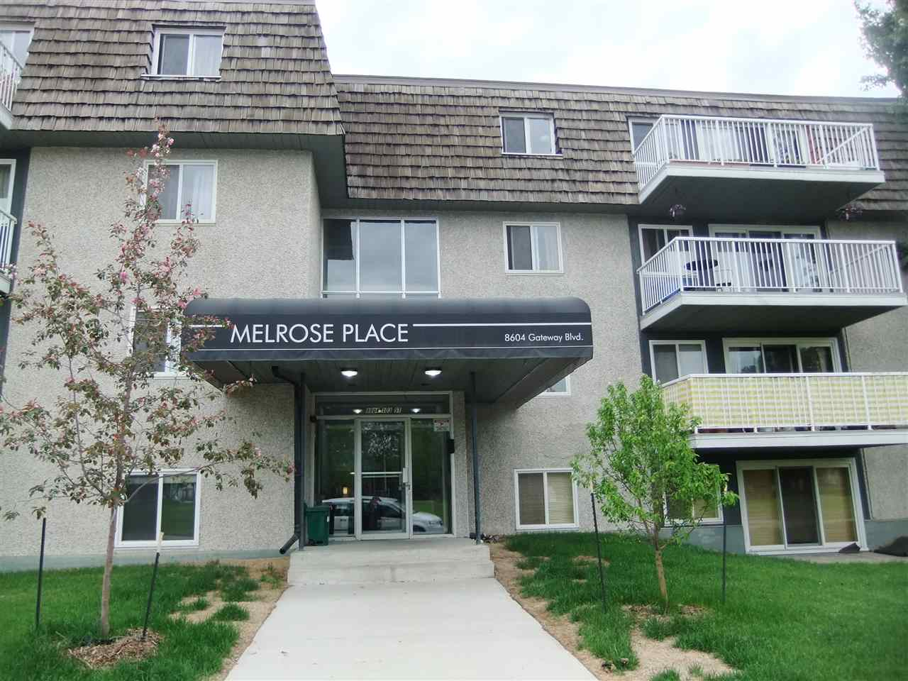Just over 600 sq ft 1 bedroom on 3rd floor in the heart of Strathcona, spacious living room with huge balcony and great view, full bath, in-suite storage, few blocks from Whyte Ave & River Valley, close to U of A, Hardwood floor in living room and bedroom. Ready to move in right away. Asking only $129,900