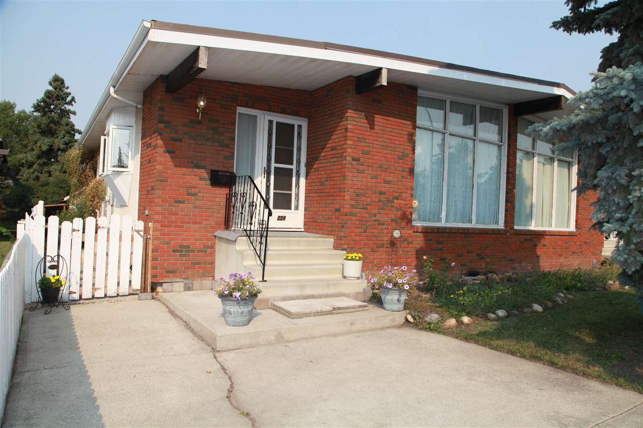 GREAT POTENTIAL!!!   1186 Sq ft 3 Bedroom 1/2 Duplex with great opportunity for Legal SUITE in basement with a separate entrance in place already .  Well Maintained , 3 bedrooms, 1/2 Bath en-suite, Vaulted Ceilings, New windows, and large backyard , mostly undeveloped basement, fenced yard, storage shed  and a Good Lease until March 2021 at $1500 per month plus Utilities.    Both side of this DUPLEX  are for sale .  Opportunity galore !