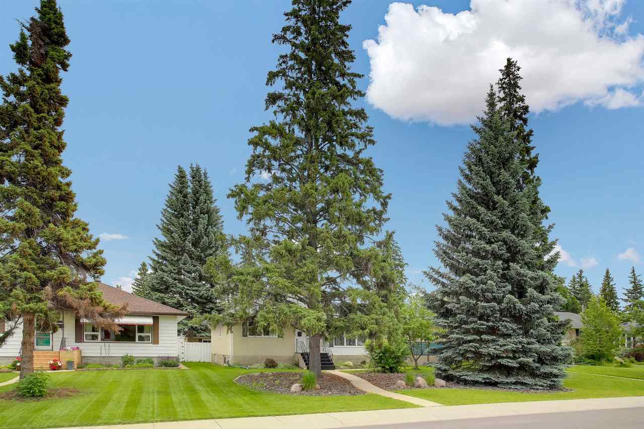 Prestigious location in the desired community of Crestwood! This executive style bungalow has 1136sqft plus finished basement totaling just over 2273sqft of finished living space ? 2 plus 1 bedrooms, 2 full bathrooms, double detached garage & renovations throughout - location on a large lot 50 x 145! Entering the home, you will love the bright & open feeling ? hardwood throughout the main floor.  Continue on into the living room featuring a gas fireplace.  Step into the beautifully renovated kitchen with large dining room. The spacious master bedroom & bedroom #2 complete the main floor.  Downstairs ? bedroom #3, the family room, bathroom, laundry room & workshop completes this perfect home.  Outside enjoy the fully landscaped private backyard!  Walking distance to the river valley, top rated schools, cafes, shopping & more!