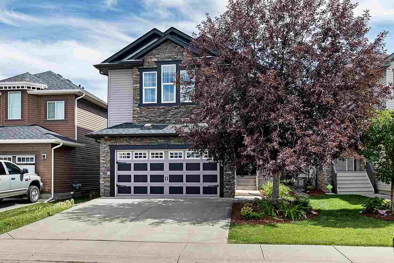Just move in! Fully finished 2-storey BACKING ONTO PARK. 3+2 bedrooms, 3 1/2 baths, 3 family rooms. SPACE for your family to grow. Soaring ceilings over the great room, and tasteful decor add to the appeal of this family home. Open main floor features granite in the kitchen, glass front cupboards, upgraded stainless steel appliances, water softener, reverse osmosis water, garborator, ice-maker to fridge, cabinets to ceiling, pot lights throughout, rounded corners, security system to name but a few. Home also has been upgraded with AIR CONDITIONING, CENTRAL VACUUM, vac pans in kitchen and en-suite, designer blinds, upgraded ceiling texture, 9' basement!!! BACKING ONTO GREEN SPACE AND PARK!! Fully insulated, dry-walled and heated garage. Maintenance free fencing and east facing deck with BBQ gas line. Home is like new and waiting for your family. All of this walking distance to Walmart, ABJ high school, Sherwood Park hospital, save on foods, Sobeys, Tim Hortons, RBC... Quick drive to HWY 16/Baseline!!