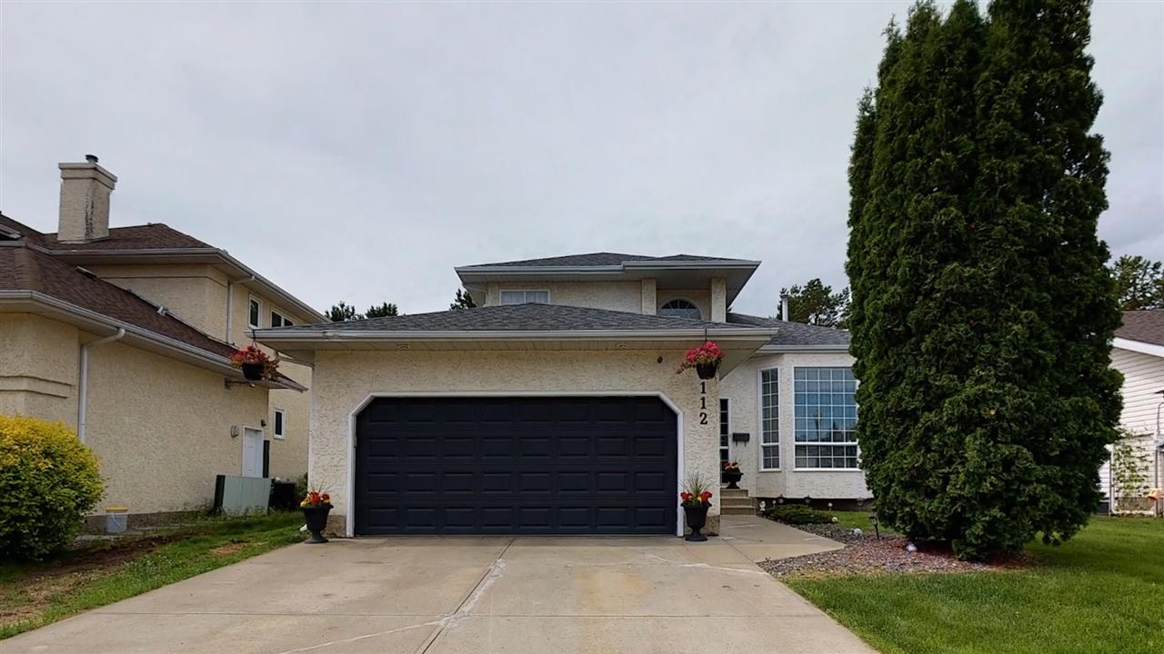 Meticulously maintained home in Potter Greens backing onto a super quiet Green Space. This former show home is just a stones throw away from Lewis Estates Golf Course and close to the Anthony Henday, Schools, shopping, Costco and River Cree.  Upon entry you are greeted with a bright open vaulted ceiling with a skylight up the stairs. The living room is large and flows to the modern dining area. Main floor Laundry. The Kitchen's open floor plan is sure to please with a central island, corner pantry, slate flooring, granite counter tops, Stainless steel appliances and white cabinets. enjoy a morning coffee in your breakfast nook while looking into the family room with top quality professionally installed laminate flooring and a gorgeous fireplace. The master bedroom is a good size and provides a walk in closet as well as an ensuite with a jetted tub and a shower stall.  Many upgrades to this home include, laminate floors, slate tile, stainless steel appliances, Shingles as well as rear landscaping.