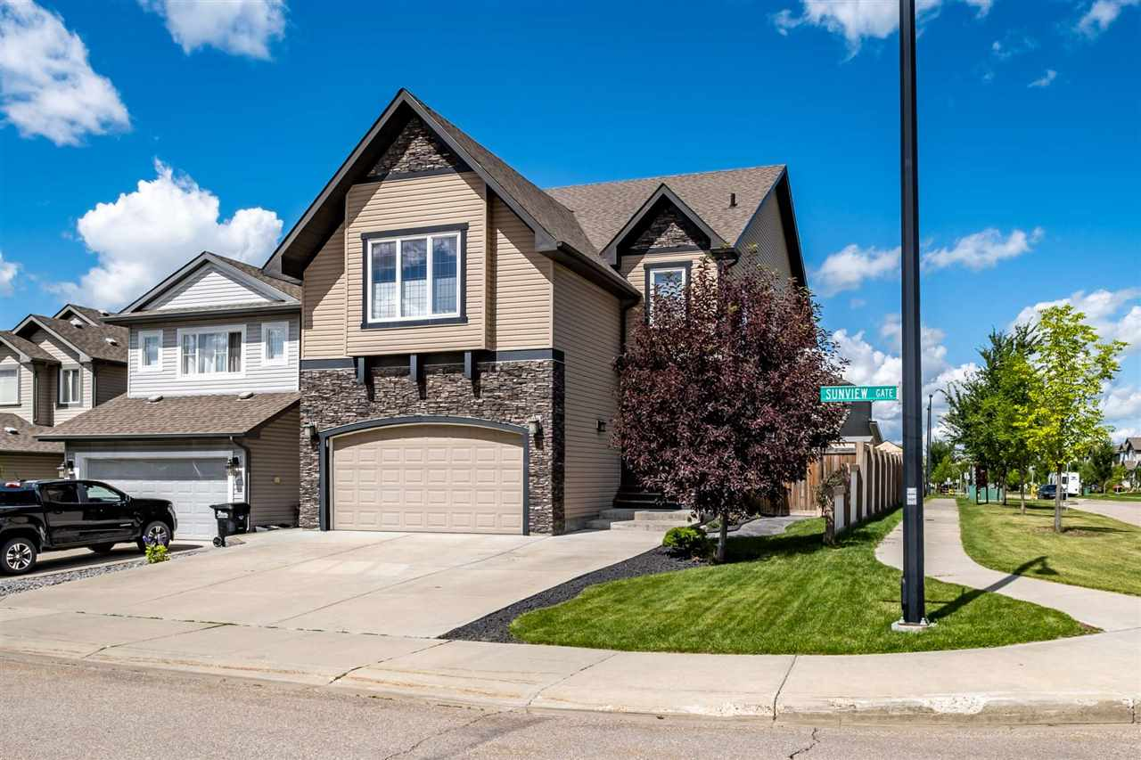 "Welcome home to this 2873 sq ft custom built by Pacesetter ""Andor"". This spectacular property loaded with upgrades will fill all your dreams.  From the gourmet kitchen with stainless top quality appliances including a 6 burner gas stove and extra large fridge, double granite island and a walk through pantry, eat in nook with door to the maintenance free deck. Great room with hardwood floors & a cozy gas fireplace . Completing the main floor is a den and a large foyer area.  Upper level boasts a gorgeous master suite with a spectacular 5 piece en-suite and a coffee bar area, 2 additional bedrooms, games area, bonus room with 5.1 speaker hook up and a large laundry room with extra cabinets.  Custom designed basement complete with a  man cave with wet bar, 3 piece bath(urinal included) and a workout area.   Upgrades include air conditioning, NUVO sound system with built in speakers, widened driveway to accommodate 3 cars & a maintenance free deck (TEREK) with pergola .   Nothing to do but move in and relax!"