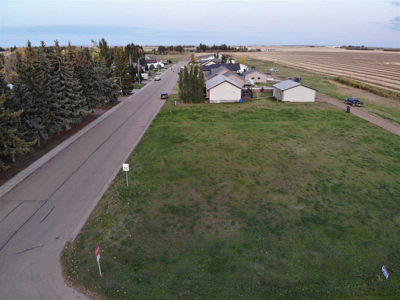 New, never built on Killam Lot in a Prime Location! Great lot in Killam with an Acreage feeling right on the edge of town looking out at the countryside, available now. Leveled 60x130ft lot with plenty of room for home, garage, and yard. Located close to the ball diamonds and heritage park, lot is level and ready to build on with full municipal services at the lot line. Private sale so no building timeline requirements, and great lot for privacy. Second lot right besdie it is available for double lot purchase.  Asking $31.500.00