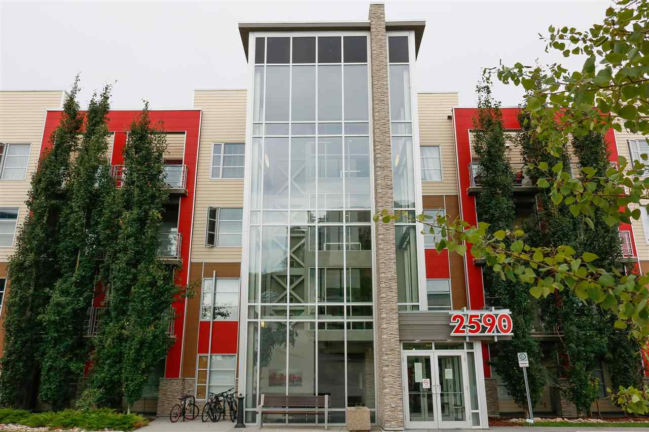 An impressive & well maintained corner unit condo w/2 bdrm, 2 bthrms + den in the Ion In Ambleside complex in Windermere. This unit features an open & comfort space with 9ft ceiling, resilient Mannington lino flring in front entry, kitchen, bthrms & in-suite laundry. Enjoy the modern heart warming kitchen with 42? upper kitchen cabinets with crown & valance, soft closed cabinets & drawers, full height ceramic tile kitchen backsplash, stainless steel appliances & 3 pendant lights over eating island. A perfect den that is ideal for work from home space & an insuite laundry w/stacked washer & dryer + stge space. Spacious mstr bdrm w/4pc ensuite & 2nd bdrm on the opposite side of an open living rm that welcomes morning sun from a wide sliding door, leads to a good size balcony to enjoy your morning coffee. There is an ENTERTAINMENT RM in this building & you have access to the EXERCISE RM & GUEST SUITE in the complex. This unit has quick access to all amenities & transportation. DON?T MISS ON THIS 10+ PLACE!!