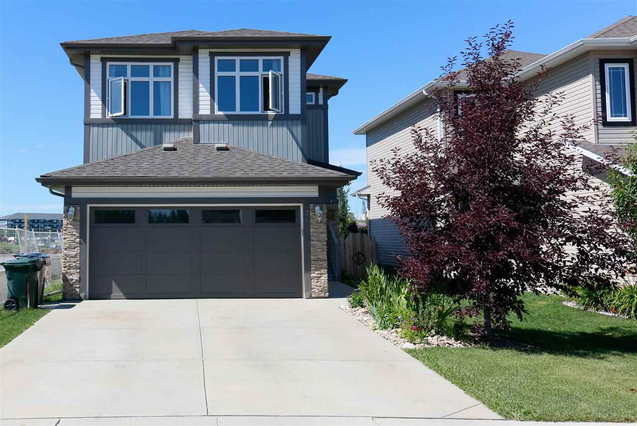 GREAT LOCATION! Perfect family home situated in a CUL DE SAC backing onto GREEN SPACE, within walking distance to shopping, banking, restaurants, coffee shops and more. This spacious 1983 sq ft 2-Storey offers a great OPEN CONCEPT with a den/office off the entrance. The kitchen features QUARTZ COUNTERTOPS, a large island, stainless steel appliances and a corner pantry. The living & dining areas are bright and open with patio door access to a fantastic deck for a summer BBQ. Upstairs comes with a huge BONUS ROOM, 3 large bedrooms as well as a convenient second floor laundry. The master features a walk-in closet and a 4 pc ensuite with a relaxing corner tub. The FULLY FINISHED BASEMENT is a perfect place to entertain with a large open rec room and a 2pc bath. All this plus an INSULATED, OVERSIZED garage and a storage shed.