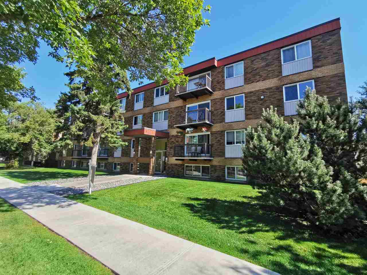 Well maintained complex with newer windows. Spacious one bedroom. Minutes to downtown, NAIT and Grant MacEwan University. Free laundry each floor. Public transportation nearby. One energized parking included. Perfect for owner occupy or investors. Say goodbye to your landlord. Mortgage payment cheaper than rent. Don't miss this. Quick possession available.