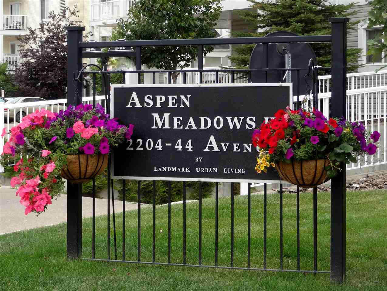 Cheaper Than Rent ~ $154,900-5% down deposit ($7,745)+CMHC fee ($5,886) = $153,041 x 25 year amortization x 1.84% interest rate = $636.00 monthly mortgage payment* Welcome to Aspen Meadows offering condo living at its finest & special bonus the Condo Fees include heat, water & electricity!  Immaculate Condition ... This modern and sleek 1 bedroom & 1 bathroom home showcases - Hardwood flooring, gorgeous granite countertops, stainless steel appliances & rich dark maple kitchen cabinets to the ceiling, glistening hardwood in the large living room with warm natural light flowing through the patio doors.  The private east facing patio provides peace & tranquility backing onto trees and green space.  Rest easy in the large bedroom with walk-through closet with dual sides leading to your 4-piece bathroom.  The In-suite Laundry Room with full sized washer and dryer is fabulous.  This unit comes with a 4x8' storage locker located on same floor AND 1 Titled Parking Stall in the heated underground parkade.  *OAC