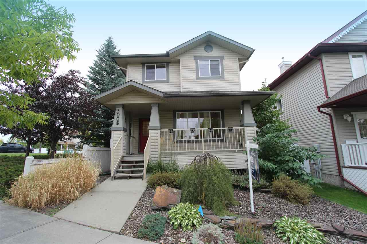 This beautifully-maintained home nestled in a great location is like a hidden gem. Mature trees abound in this part of Terwillegar Towne, and this 1252 sq ft, 2 storey home sits beside a quiet park, so there is only one neighbouring house. With 3 bedrooms up PLUS a FULLY FINISHED BASEMENT this home also offers plenty of space for your family while being extra easy on your wallet. No sacrifices on the finishing either, with hardwood and tile flooring, a great kitchen with shaker-style cabinets, S/S appliances, new paint, pot lighting, and so much more. Lots of natural light thanks to extra windows, including upstairs where you?ll find 2 good size kids rooms and the master suite with walk-in closet. You?ll love the extra space in the basement, where there is a rec room with wet bar, a full bath and a den area that could be made into a future bedroom. Even the yard is done well, with a large deck and patio out back, artificial turf, and an insulated and drywalled double garage and extra street parking.
