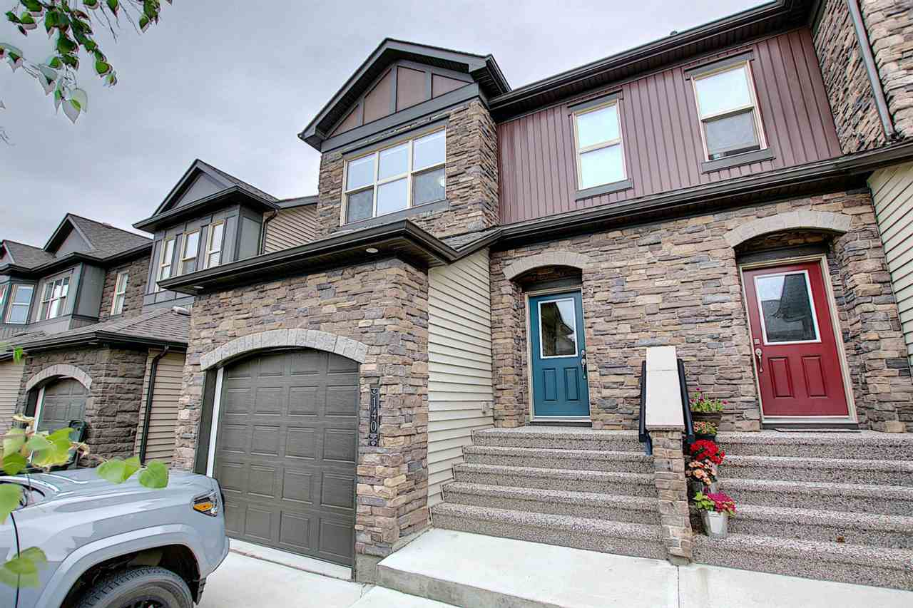BEAUTIFUL ... MODERN ... END UNIT!!!  This Dolce Vita built home offers OPEN CONCEPT LIVING AREA with WHITE CABINETRY... GRANITE COUNTER TOPS... Central AIR CONDITIONING and ENGINEERED HARDWOOD FLOORING.  Large windows for PLENTY OF NATURAL LIGHT.  The kitchen is a CHEF'S DREAM with LOADS of COUNTER SPACE, STAINLESS STEEL APPLIANCES and a corner pantry.  Patio doors off the dining area lead to the spacious, fenced back yard with deck.  The living room has plenty of room for that BIG SCREEN TV!  UPSTAIRS are 2 LARGE MASTER BEDROOMS, both with ENSUITES and WALK-IN CLOSETS.  2ND FLOOR LAUNDRY!!!  SINGLE ATTACHED GARAGE and full basement complete the home.  WALKING DISTANCE to PRESCOTT SCHOOL and PLENTY OF WALKING PATHS in the area close to JUBILEE PARK.