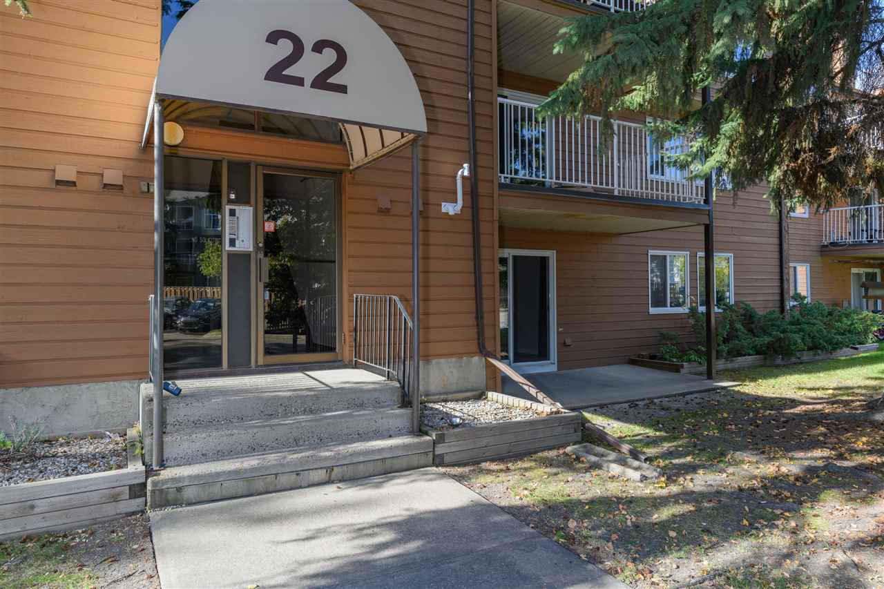 A must see! Newly renovated main floor suite. High quality vinyl plank flooring throughout, freshly painted and new baseboards. Gallery style kitchen has ample cupboard space and eating bar. Open concept, spacious living room and dining area. Enjoy a cozy fireplace and south facing patio. Large in-suite storage room. Master bedroom has a walk-through closet to the bathroom. Second bedroom is spacious. New furnace and hot water tank installed in 2018. this well maintained complex is located on a quiet street with easy access to schools, public transportation and shopping. Great location! Easy access to the Anthony Henday.