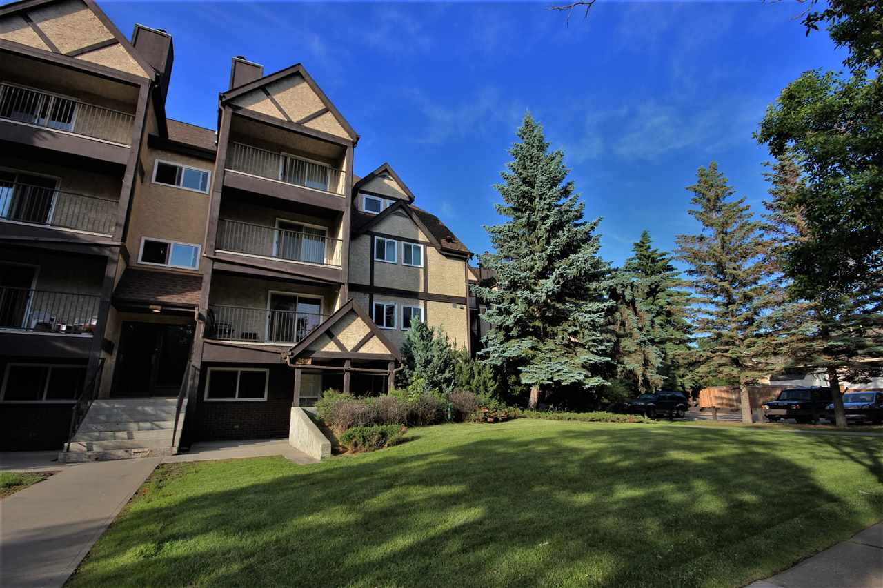 AMAZING LOCATION and Cheaper than Renting!!! This Condo is located on the very south side of St.Albert, only 1 minute from Edmonton. The MAIN BUS TERMINAL (with direct access to UofA, WEM, NAIT, etc), 3 grocery stores, shopping, TRENDY RESTAURANTS, coffee shops, medi centre ... ARE ALL WALKING DISTANCE - you don't even need a vehicle. If you do drive the energized PARKING STALL IS ALMOST DIRECTLY OUT YOUR DOOR and there is also heated underground parking available. LIVING ON THE MAIN FLOOR could not be better, NEVER DO STAIRS AGAIN, while you and your guests can come and go without ever having to enter the main building. Great neighbourhood as ST.ALBERT IS RATED AMONG THE SAFEST cities in Canada! NEW WINDOWS, DOORS, FLOORING AND PAINT. Full size kitchen with NEW GRANITE Countertops, 5 APPLIANCES INCLUDING THE WASHER/DRYER, Roomy dinette, 2 Bedrooms, a walk-in storage closet and a good sized living area. HEAT AND WATER ARE INCLUDED IN THE LOW CONDO FEE.  Flexible possession on this MOVE IN READY Property.