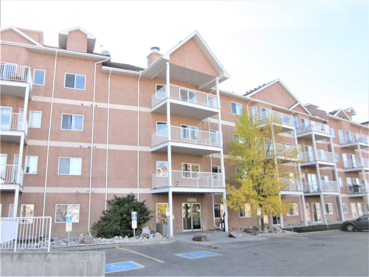 Top floor open and spacious 1,019 sq.ft. two bedrooms and two baths condo unit. Beautiful laminate flooring in the large living room with bay windows and patio door access to the Southeast facing balcony. Lovely U-shaped kitchen has ample light colour cabinets and extended breakfast bar. Spacious dining area. Master bedroom has walk-through closet and 3 pcs. ensuite. Insuite laundry and insuite storage room. One assigned underground parking stall. Amenities include car wash, exercise room, and social room. Conveniently located just steps away from the Clareview LRT Station, close to shopping, and Clareview Community Recreation Centre.