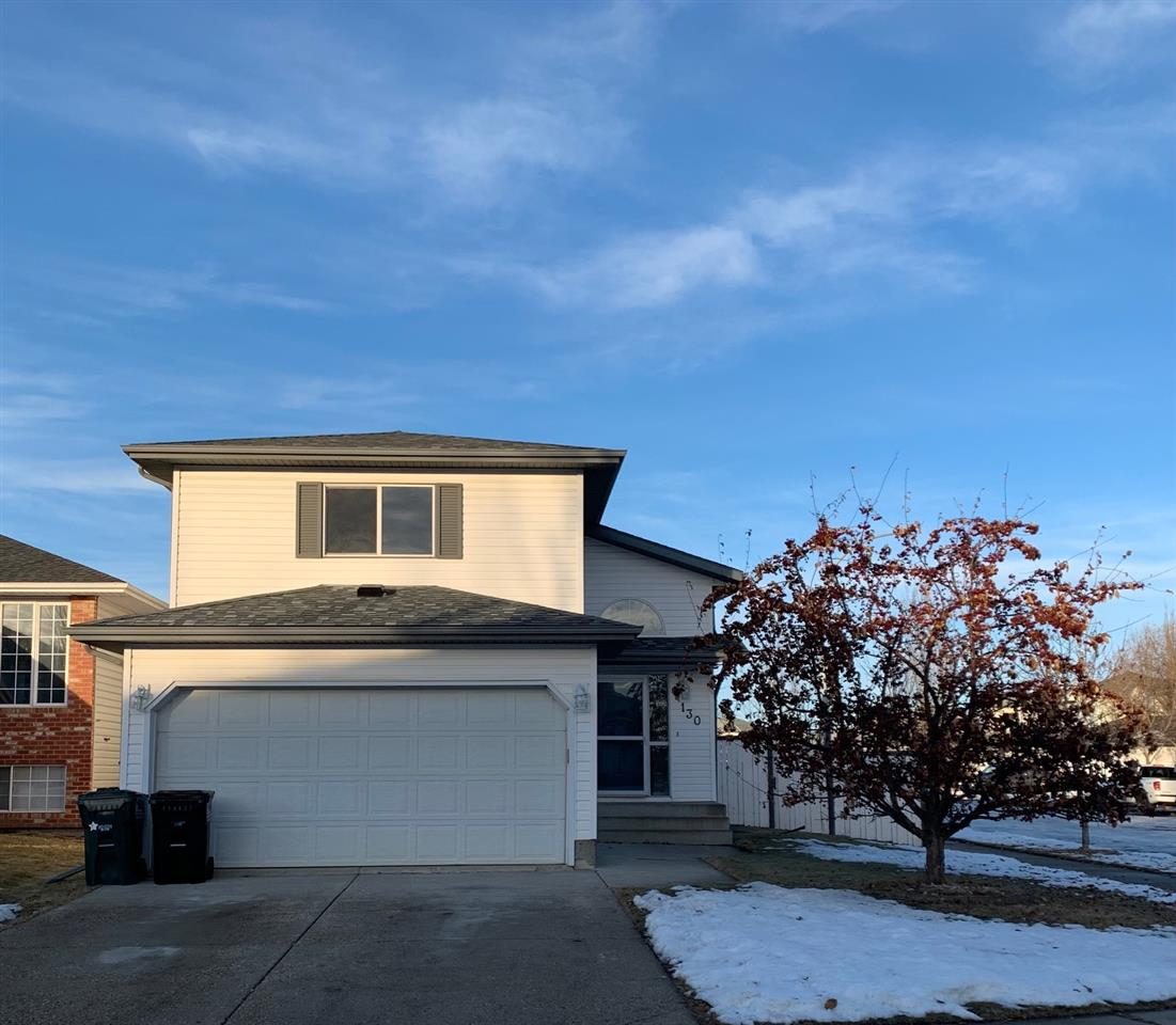 Family Friendly Cloverbar Ranch!  Featuring 5 bedrooms & 3 full bathrooms, this 1375 sqft bi level style home is sure to impress! Main floor includes a family room, living room & kitchen with large dining area. Also located on the main floor are bedrooms 2 & 3 and the main bathroom.  Bonus room style owner's suite features a 3 piece ensuite with shower & oversized walk in closet. Lower level features a full bathroom, bedrooms 4 & 5, massive recreation/family room & plenty of storage. Highlights of this home include: brand new shingles,  professionally painted, neutral flooring throughout including brand new carpeting in the basement, separate entrance from garage to basement, spacious foyer with storage bench. Completely fenced & landscaped, sundeck with storage beneath. Only a 2 block walk to an enormous park & playground, walking trails, and very close to all amenities including K-9 schools (separate and public), shopping, restaurants, public transportation and all services. Double attached garage!