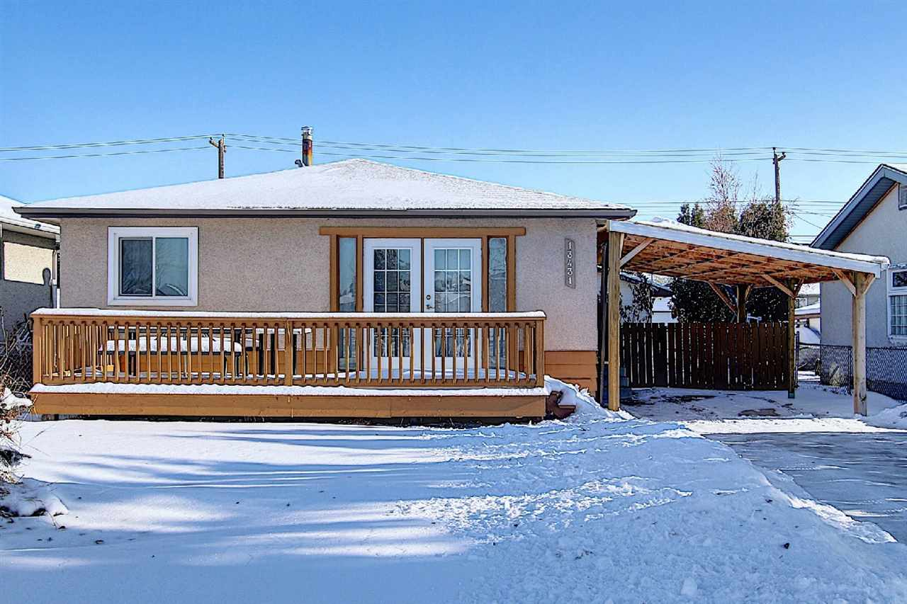 This Fabulous 1000 sf + almost 1000 sf bsmt living areas Bungalow situated in the Very Convenient Location! Features total of 5 Bedrooms/Living rm/Family rm/2 Bathrooms & Double Detached Garage. Main floor greets you with Open Concept Style Living room boasts Gorgeous Laminate floorings/overlooks to front Porch & Lovely Park. Spacious Kitchen with Modern Kitchen Cabinets/Granite Countertop/Pot Lights & Nice Backsplash. Full Bathroom/3 Sizable Bedrooms all w Laminate floorings. SEPARATE SIDE DOOR ENTRANCE to FULLY FINISHED BASEMENT offers 2 Bedrooms/Family room/Bar/Bathrm/Laundry & Utility room. Upgrades: Fresh Painting/Laminate Floorings through out Living rm/all Bedrooms & Bsmt. Newer Shingle/Windows/Furnace/HWT/Kitchen Cabinets/Counter/Hood Fan/Fridge/Stove/Washer/Dryer/Water Softener/Closet Doors, etc...Great sized Yard is Landscaped & Fenced w Back lane drive to Double Garage. Across Street from a Park. Easy access to Public transp/School/Shopping C & all amenities. Quick possession avail. Shows 10+!