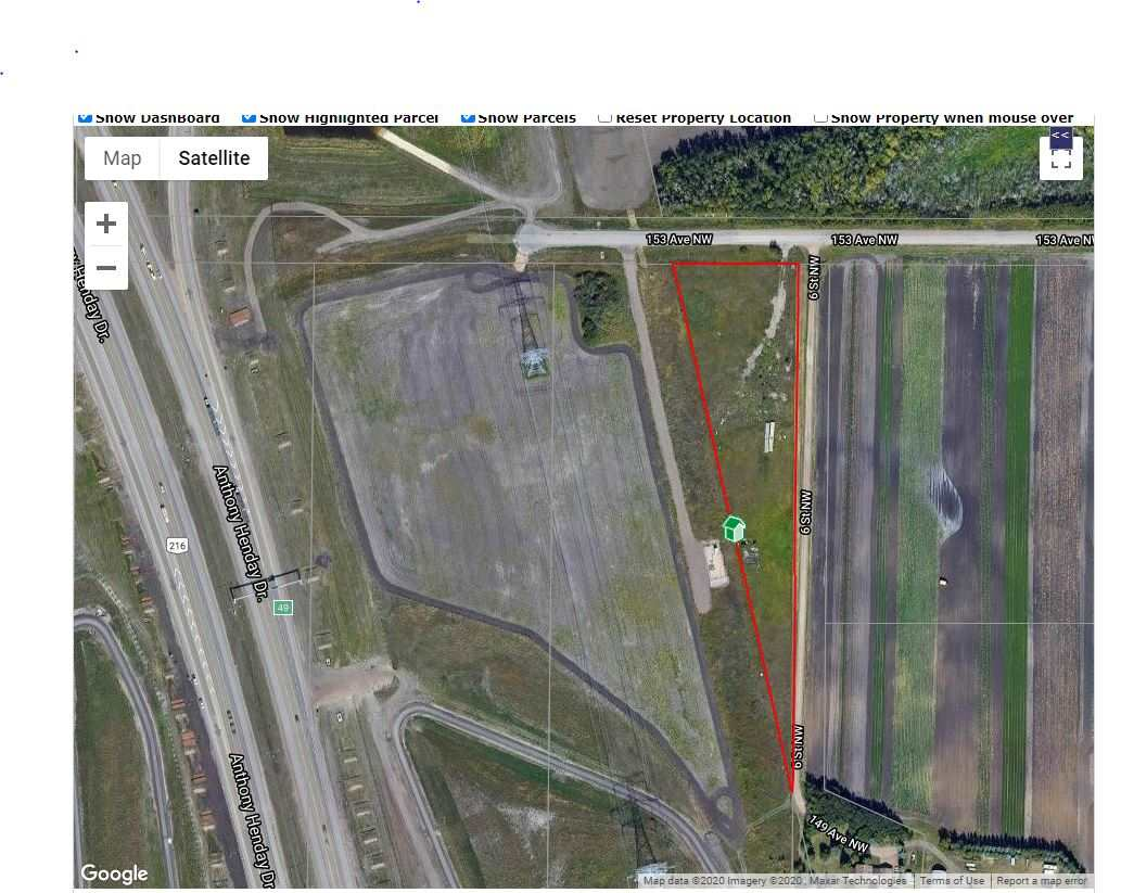 LOT OF POTENTIAL FOR THIS PROPERTY ON 3.48 ACRES THAT IS CURRENTLY ZONED AG INSIDE CITY LIMITS CLOSE TO RAVEN CREST GOLF COURSE .JUST OFF AMTHONY HENDAY ON 153 AVE EXIT LESS THAN 15 MINUTES TO ALL YOUR SHOPPING NEEDS AND LRT.THIS PROPERTY IS FUTURE RESIDENTIAL LAND UNDER THE HORSE HILL AREA STRUCTURE PLAN .CURRENTLY A ACREAGE TYPE HOME AND SHOP COULD BE BUILT ON THIS PROPERTY WITH OBTAINING PERMITS ETC TO BUILD FROM CITY OF EDMONTON.