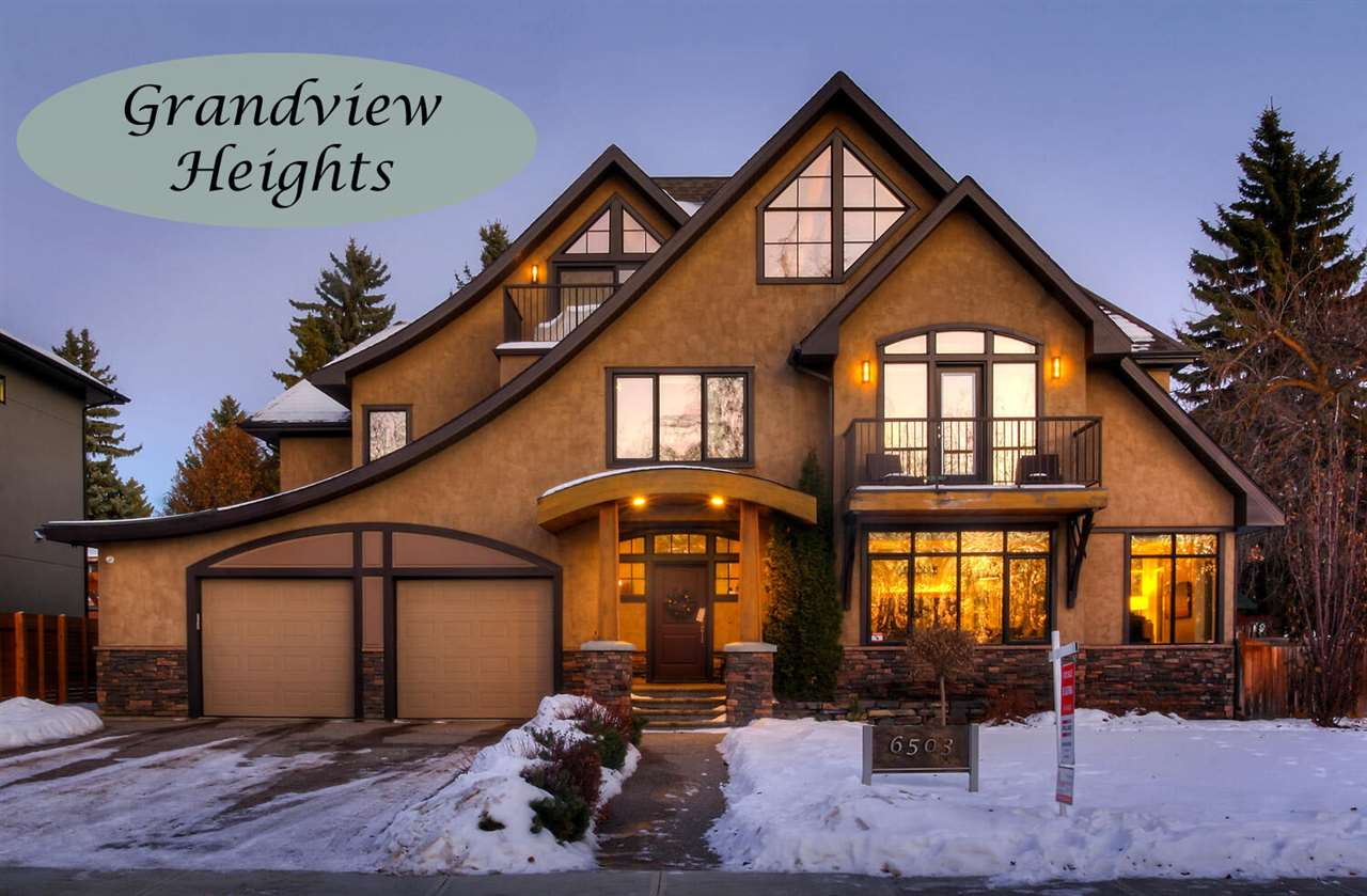 Awesome opportunity on Grandview Drive across from the ravine. With gorgeous street appeal and over 4000 square feet this Habitat built 2.5 story 5 bedroom family home sits on a massive 85' X 120' lot (plus a 20' easement). Features include 2x8 exterior walls, solar panels, triple pane windows, solid hardwood floors, dramatic open riser stairs and a 3rd story loft. Main level features include formal living and dining rooms, a huge island kitchen and family room,  a 3-season room with heated floors and a mud room complete with a dog shower and personalized B-I closets. The 2nd level has 4 bedrooms, the laundry and a quiet private library just outside the master suite.  The open loft, perfect for offices has huge windows and a private balcony with a view of the ravine. Completing this exceptional family home, the lower level has a RR, workout room, flex room and a guest BDRM/bath. With spaces for everyone and every activity it's just steps to Grandview School and a short compute to the U of A and hospitals.