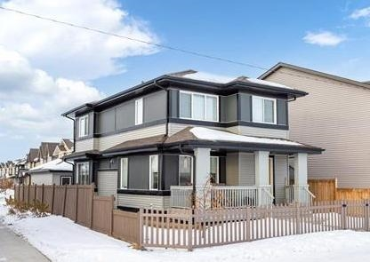 Lovely 1578 sq. ft. 2 storey with a DOUBLE GARAGE siding on & OVERLOOKING GREENSPACE in Paisley, a fabulous new neighborhood nestled in a natural ravine offering walking trails, parks & water features yet so close to all the amenities the area has to offer! Built in 2017, a large pad leads to the INSULATED & DRYWALLED GARAGE and CUSTOM GATE opens into the compact yard with RAISED GARDEN BEDS & a gas line for the barbeque. A laundry/mud room at the back door then into a CONTEMPORY main floor featuring HARDWOOD, a generous eating area overlooking the backyard & a gorgeous QUARTZ ISLAND KITCHEN with plenty of cabinets, a central sink & STAINLESS APPLIANCES. The great room features a LINEAR FIREPLACE, lots of NATURAL LIGHT and access to the FRONT VERANDAH OVERLOOKING TRAIL & GREENSPACE. A 2 pc. bath & PORCH complete the main floor. Up to 3 BEDROOMS, a 4 pc. bath & a master with a WI closet & full bath. The basement is ready for future development. Custom blinds & central vacuum! PERFECT IN PAISLEY!