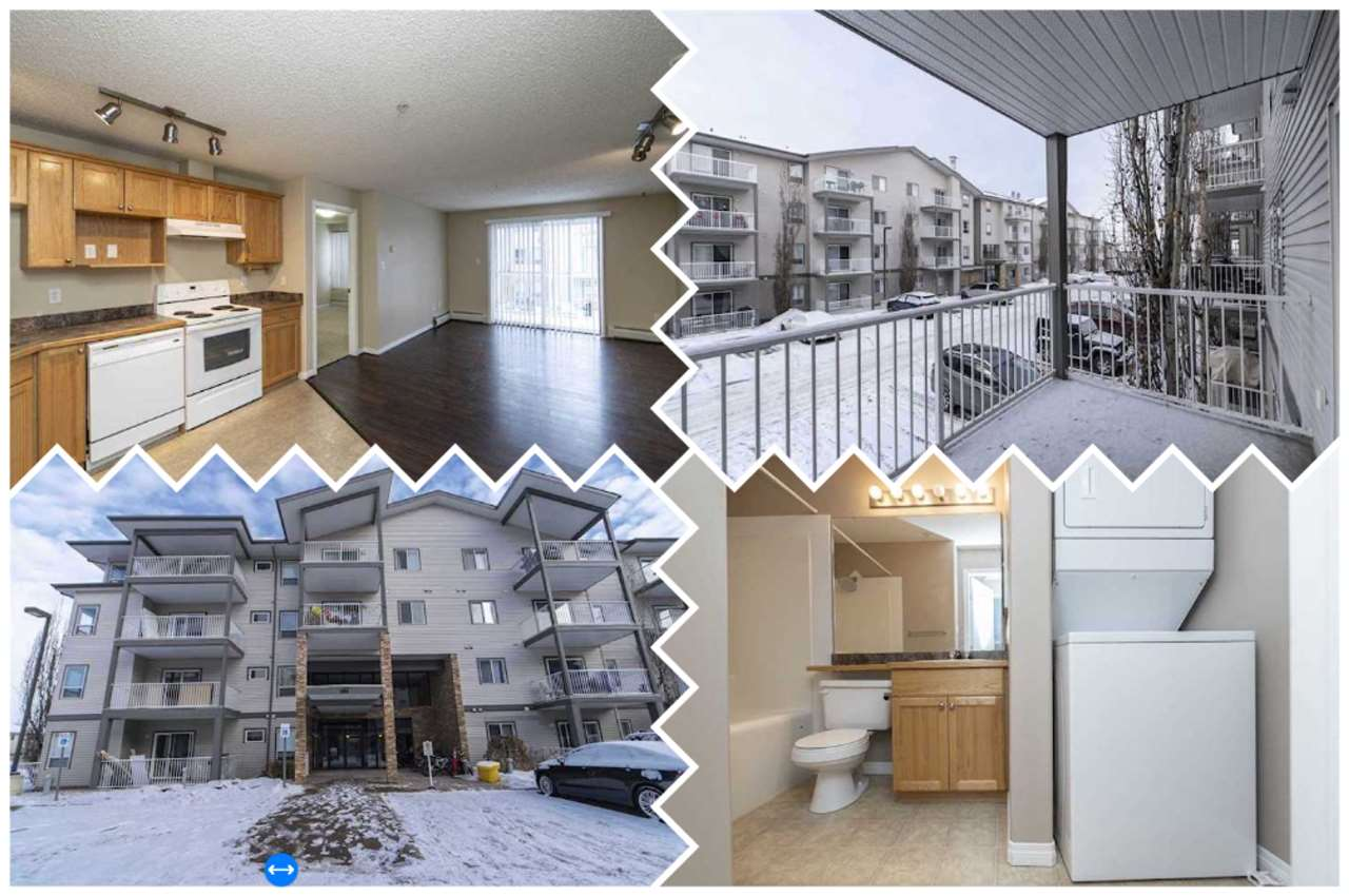 Conveniently located in the thriving Ellerslie neighbourhood, this condo in PARK PLACE ELLERSLIE CROSSING offers 2 bedrooms & 2 4pc baths sitting at over 800 sqft & has all the great amenities you need. The kitchen has plenty of cabinet space and full appliance set. This unit has a big living room with access to the patio. King sized bedroom has space for lots of furniture and offers a good-size closet with 4pc ensuite. A second good sized bedroom and 4pc main bath. In-suite laundry. Titled parking stall. LOW CONDO FEES include HEAT & WATER & is a great choice for 1st-time home buyers or investors. Easy access to all amenities including South Common, Anthony Henday & the International Airport.