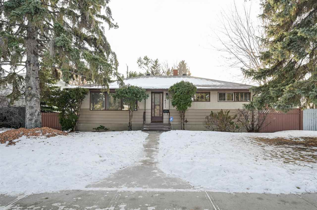 Solid and well cared for 3 + 1 bedroom bungalow in Laurier Heights, a great west end community. Enjoy the abundant large windows throughout which will ensure plenty of natural light. Features include large eat in kitchen, separate dining room, spacious living room, Master Bedroom with a convenient 2 piece ensuite, full bathroom and an additional 2 spacious bedrooms complete the main floor.  Basement has a bedroom, laundry area and a large space ready to be finished. New shingles on house and roof in 2016 with house freshly painted in 2020.  Parking is available in the rear in an oversize single detached garage.  Enjoy the sunny, beautifully landscaped South back yard, complete with landscape stone patio.  Close access to all amenities - West Edmonton Mall, Valley Zoo, Parks, River Valley, Schools, Transit, with  quick access to downtown and the University Area along with all major highways/freeways. Great value un this well priced solid house in a sought after community.