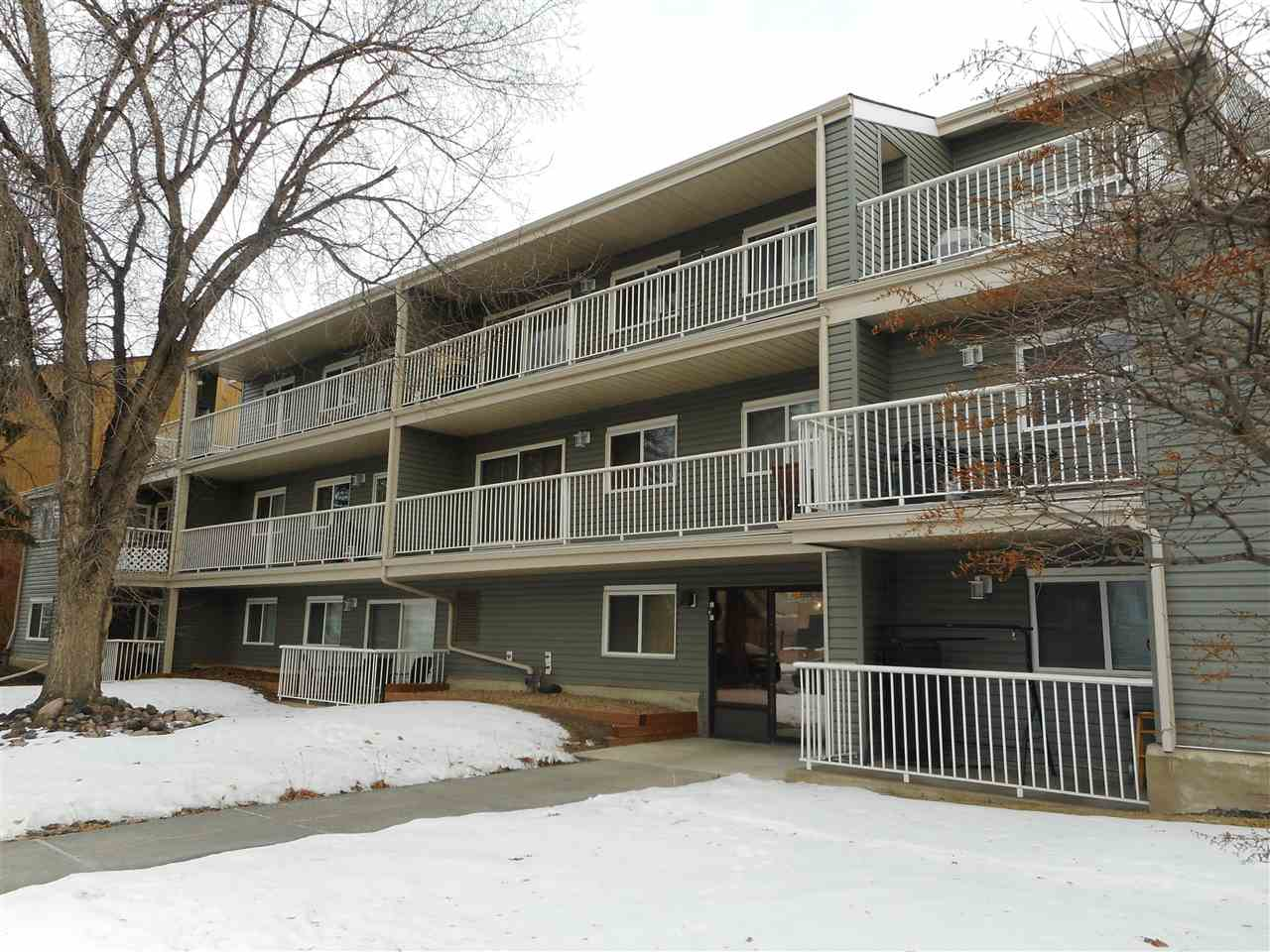 Well maintained 1 bedroom Condo for sale in Britannia Youngstown. This unit has a large balcony,in suite extra storage room,walk-in close in the bedroom.No smoking unit,smalll pets OK with condo board approval.Spacious rooms with lots of natural light coming thru big windows and sliding door.Ideal for students,young proffessionals or investors.Close to public tramsportaion(also new LRT in the future)Valley Line is planned,schools,playgrounds and shopping.Very well maintained,professionally managed building.Now rented at 825,current lease is the end of July 2021.Very Affordable 1 bedroom condo..Energized Parking..All utilities (accept power) included in condo fee..Excellent location amenities close by.Building is well maintained with some upgrades..Mortgage payment could be less than renting..