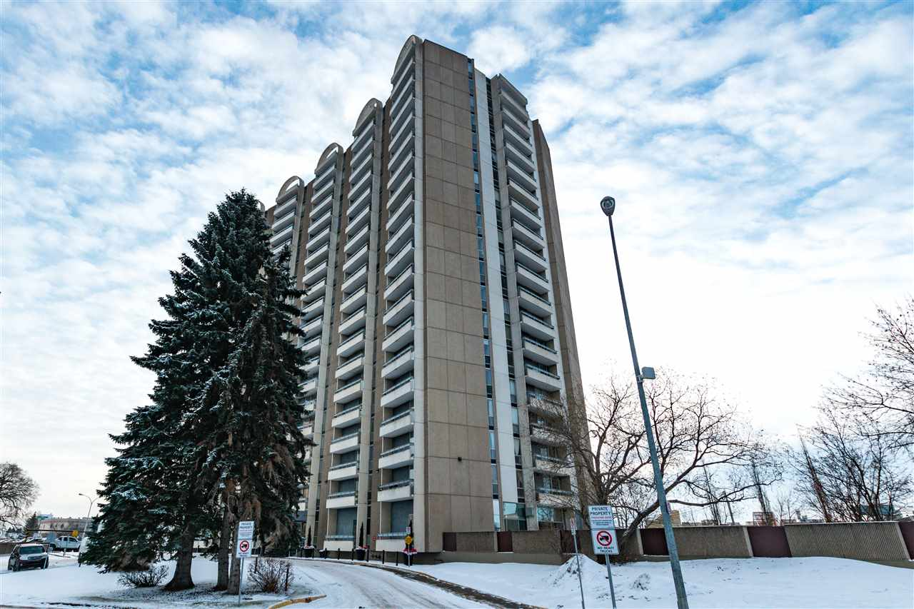 THE RIGHT CONDO with an AMAZING VIEW! Highly sought after well managed building. Bright and spacious 1 bedroom with great south exposure. This unit was tastefully renovated w laminate flooring, new baseboards, light fixtures, bathroom, kitchen cabinets, counter tops, back splash, and Built in DISHWASHER-it is MOVE-IN READY! Strathcona House offers the best amenities - an indoor swimming pool, modern fitness room, saunas, shower rooms, a meeting room and a gorgeous, park-like courtyard overlooking the river valley complete with gazebo and gas BBQ's. Enjoy the convenience of being within walking distance to the river valley and trails, U of A, LRT, Whyte Avenue, U of A hospital and a short walk across the High Level bridge to downtown. Condo fees...electricity, heat, water and sewer are ALL INCLUDED. Parking stall #212, just outside the rear door, and extra large storage locker #166 are assigned to this unit. A secure, well maintained building with 3 elevators and on-site management.