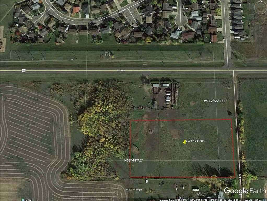 4.41 Acres zoned C2, commercial/ light industrial, right on the East side of Bustling Bruderheim , there is a new hemp plant in town so possible ancillary business opportunities there, located beside a greenhouse, great location for rv storage lot, car wash, get creative! Prime development land, 3 acre lot beside along HWY is also available mls#E4156957