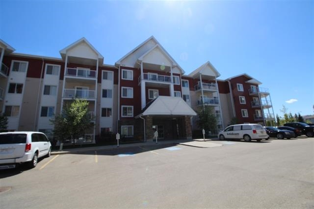 Modern and upgraded 2 bedroom + 2 bathroom condo with underground heated parking, open concept, hardwood floors, upgraded granite counter space, eating bar, and a spacious area for the dining table. Stainless steel appliances, large balcony. Open concept layout. Huge Laundry/storage room. Condo fees incl everything: power, heat and water. Convenient location with easy access to Whitemud Freeway, Anthony Henday, schools, shopping, walking distance to Superstore. 1 title parking stall. Very clean, non smoking, no pets home. Move in ready!.