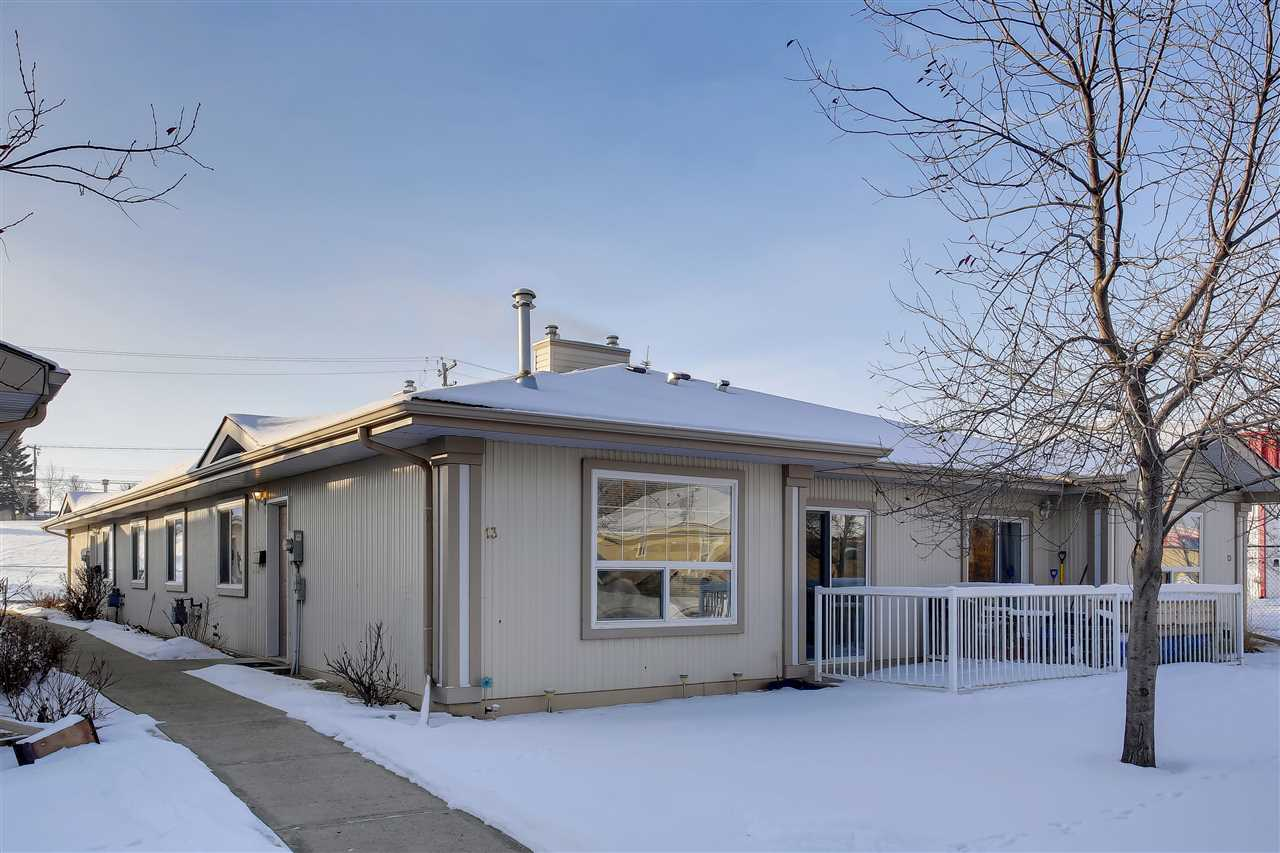 Welcome to a Delightfully Bright 964.52 square ft, Bungalow that has been updated with safety and Mobility at Heart! Conveniently situated close to Hospital, Pharmacy, and the Pioneer 73 Club.  Meer steps to Groceries and Green Space.  This Unique Gem has been upgraded with Anti Slip flooring, a Solid Wood Hand Rail system, V-Door Tub/Shower combo in the Master Ensuite, and more!  A Perfectly accessible unit with open concept, spacious rooms, in suite Laundry, storage, and an inviting natural gas fireplace is ideal for those cool winter evenings. This North Facing home has a dedicated and energized parking stall located steps away from your front door.     Devon's Community initiatives and Seniors programs are second to none and are the cornerstone of an amazing community. It is easy to Call this property Home.