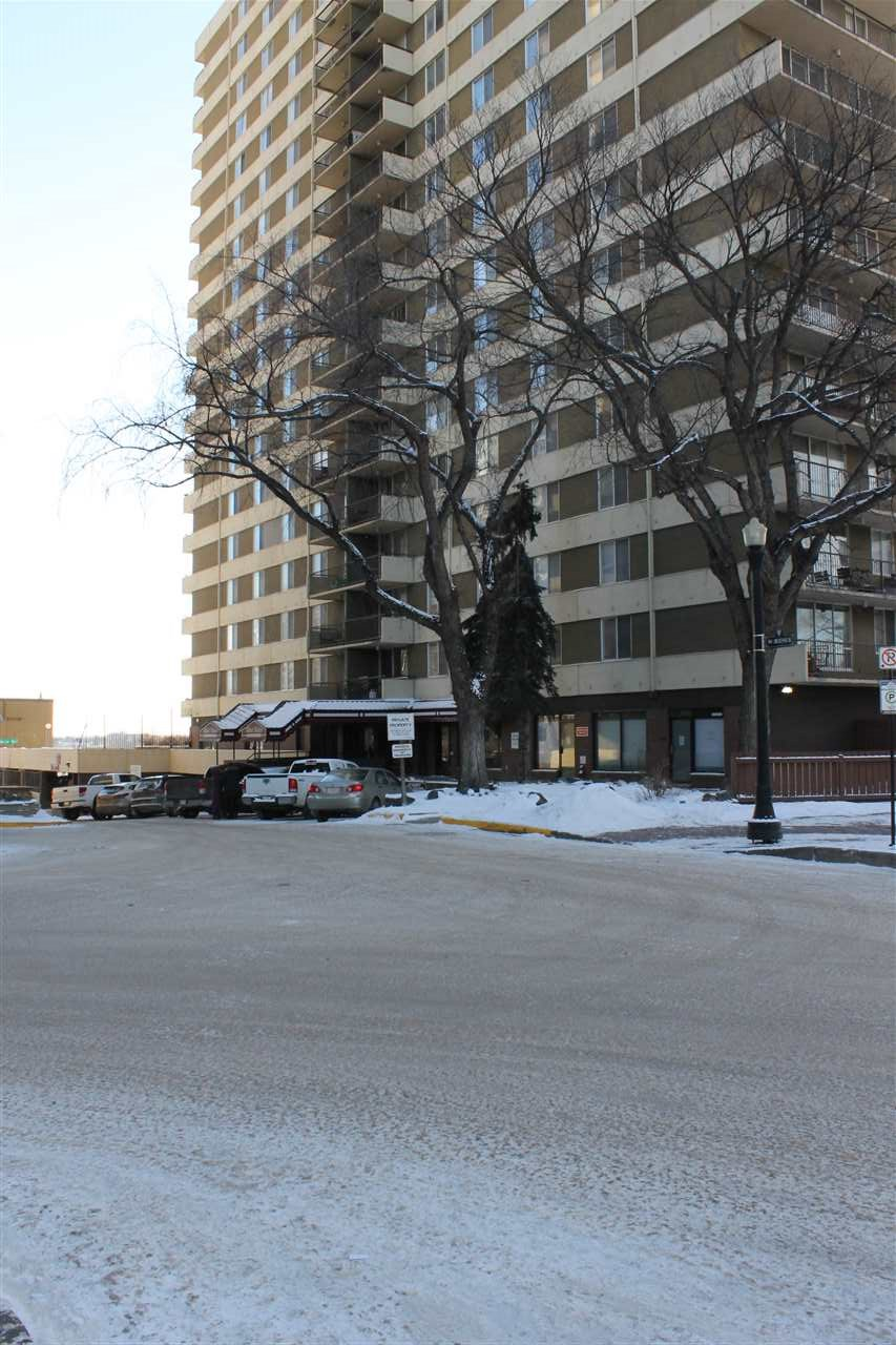 Check out the beautiful view of downtown and river valley. Enjoy this spacious 2 bed, 1.5 bath, 8th floor condo in Hillside Estates. Spacious living room with sliding doors to the large balcony where you can take in the beauty of Edmonton. It has a large master with 2pc ensuite, a good size second bedroom, 4pc main bath and in suite storage. Unit was renovated few years back with a fresh coat of paint, laminate, tiles and bathroom vanities. Water, Heat and Power included in the Condo Fees. Great amenities include in-door pool, exercise room, party room, sauna and steam room. Fantastic location, 2 blocks to LRT, easy access to UofA, short walk to MacEwan University, Legislature Grounds, Ice District, trendy restaurants & downtown shopping.