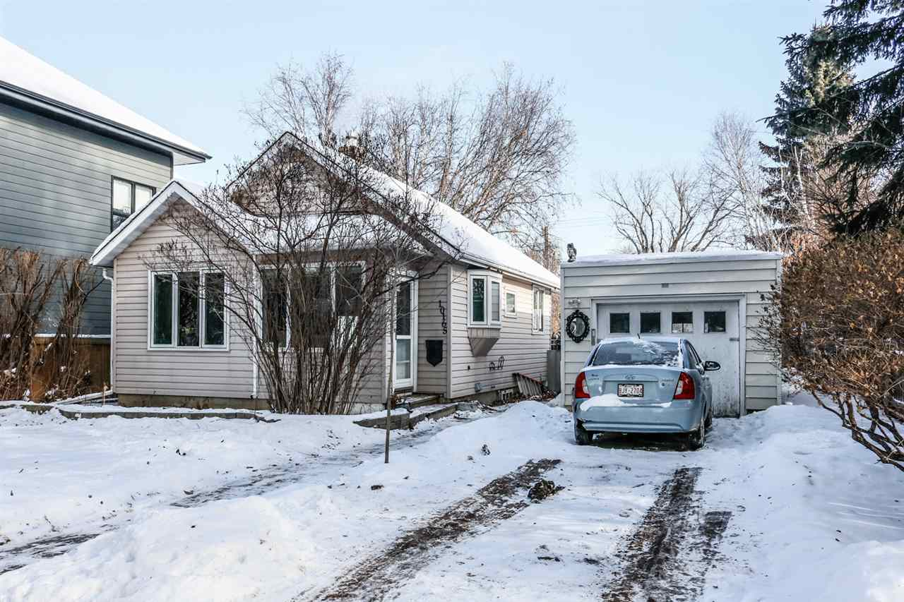 If you love nature and a great community this little gem could be for you! Situated on a 50x150 lot on a beautiful tree lined street you are minutes to the downtown core, the Little Brick cafe, golf course or valley trail system. You can move right in to this renovated bungalow that has an open layout, hardwood floors with easy to clean slate tile at the entrances. The dryer is new, the HW tank 2019, and furnace is less than 10 yrs old. The bay windows are an adorable accent and let the light flow in. If you love to work on your car, this oversized single garage with pit might just be the fit for you! If you want an investment, a garden suite could be added or perhaps you want the amazing lot to build your dream home. If you want an investment property this one is perfect. Riverdale is growing with new amenities under way. The basement is clean and dry and ready for your finishing touch. Live, work and play! Every home has a story, lets start writing yours!