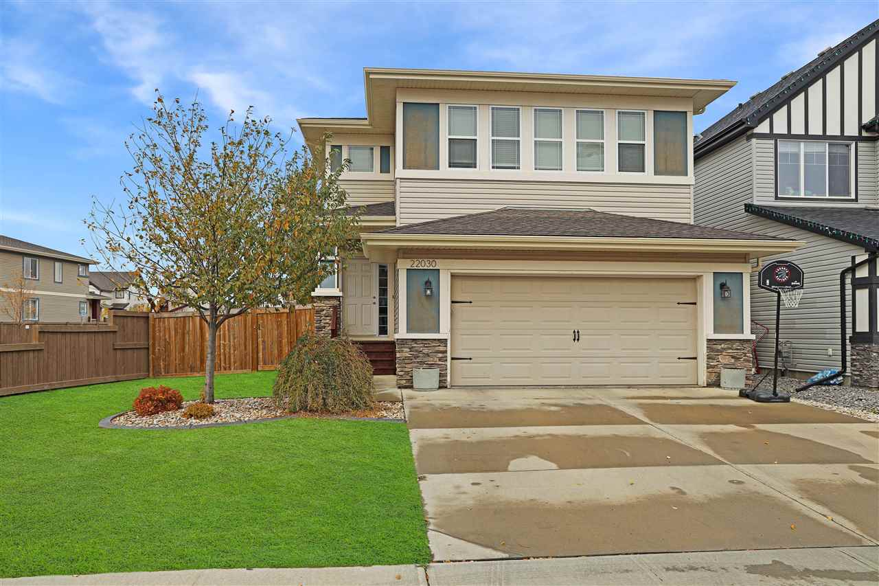 Welcome to this stunning family 2 storey home in Secord. Entering the home you have a spacious foyer with access to the double garage. The kitchen, living room and dining area are open concept. The massive galley style kitchen has a long eat up bar. There is plenty of room for multiple cooks. The cozy living room features a gas fireplace with built in shelving. The dining room can hold a large table for the family holiday dinner. Also on the main floor you have a bedroom which is a great space for an office and a half bathroom. The top floor you have a bonus room, your main bedroom, 2 additional bedrooms, the laundry room and a full bathroom. The main bedroom is amazing! When you enter you will see the barn sliding door for your spa style ensuite. The ensuite has a shower, soaker tub and dual sinks. Across from the ensuite is your walk in closet. The bedroom is large enough to include a couch or large dresser. The home has great curb appeal and located near trails, ponds, schools and shopping.