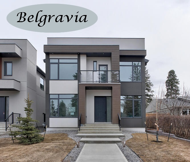 Luxury living in a fantastic Belgravia location. This elegant 5 BDRM, 5 BATH home boasts 2696 sq ft of finished living. The stunning architectural open riser stair case separates the formal living room at the front of the home from the kitchen, dining room and family room at the back that truly shows off open concept living. The gorgeous chef's kitchen has a huge island, lovely finishings, storage galore and a great appliance package including a coffee bar. The main level also has a private den/office and a 3-pce bath. Up those gorgeous stairs are 3 BDRMS, all with ensuites. The master has a huge W-I closet full of B-I shelving and an exquisite spa like ensuite. The lower level has a spacious Rec Room/Family Room with a built-in wet bar, 2 more BDRMS and a 4-pce bathroom. The yard is landscaped, fully fenced and there is a double detached garage. Located in one of Edmonton's premier communities this exceptional property is walking distance to the U of A, the hospitals and a short commute to downtown.