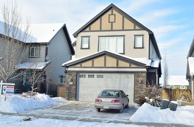 OUTSTANDING 2600 sq.ft 2 Storey featuring 6 BEDROOMS, 3.5 baths, a BONUS & FAMILY ROOM & 9' ceilings! Follow the rich hardwood floors to the exquisite FIREPLACE in the large LR which opens onto the SPACIOUS KITCHEN fully equipped w/ espresso cabinets, granite counters, corner pantry, HIGH END SS appliances & an island w/ eating bar. Right off the attached double garage is a mudroom w/ MF laundry. A 2pc bath & Den complete the main. Upstairs you'll find a deluxe MB feat two closets & spa-like 4pc ensuite. The 3rd & 4th bedrooms are generous in size & share a 4pce. bath, The spacious bonus room is ideal other family members to enjoy the upper level. The incredible FF basement features laminate floors, 5th & 6th bed & a trendy 3pc bath. Entertain on your West facing deck and enjoy the greenspace behind. Trumpeter is surrounded by BEAUTIFUL WALKING TRAILS, NATURAL LANDSCAPING, NEW PLAYGROUND WITH A TOBOGGAN HILL & BIG LAKE! Easy access to Ray Gibbons Drive and the all the AMENITIES of St. Albert