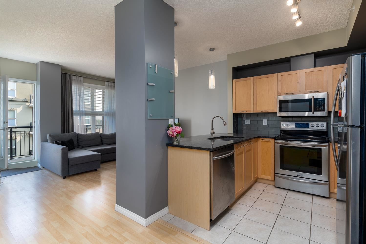 STEPS away from Clareview LRT station. Convenient location close to shopping, public transportation, Anthony Henday access. 1Bedroom with 2nd door to 4pc bathroom. In suite Laundry. 5th Floor Unit with balcony. Stainless steal appliances and granite counter tops. CONCRETE construction for less noise transfer. UNDERGROUND heated parking with 2 STORGAGE units.