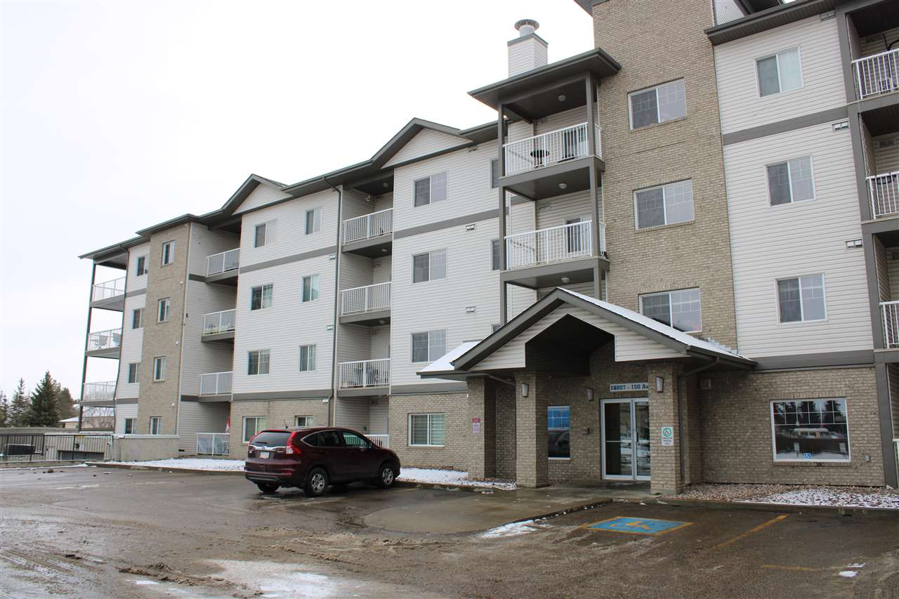 Welcome to this incredibly well maintained 860 sq ft condo 2 bedrooms + den, 2 full baths condo, with excellent access to downtown on 100ave. Bright and spacious living room, dining room and kitchen. The large island has an eating bar, and is open to the living room. 2 large bedrooms including the primary with a full ensuite. Surrounded by all amenities & conveniences of a newer building at an affordable price! 2 titled underground parking stalls, the 2 stalls are tucked away from congestion with no cars directly beside you. This 3rd floor unit with nice sized balcony on a quiet side of the building overlooking a park/field, makes the convenient lifestyle all the more enjoyable. Many upgrades: stainless steel appliances, custom window coverings in all rooms, closet organizers, custom shelving in laundry/storage room. Glenwood on the Park includes an exercise room & car wash! With 7 appliances, in suite laundry extra parking, insuite storage. Overall exceptional condition.