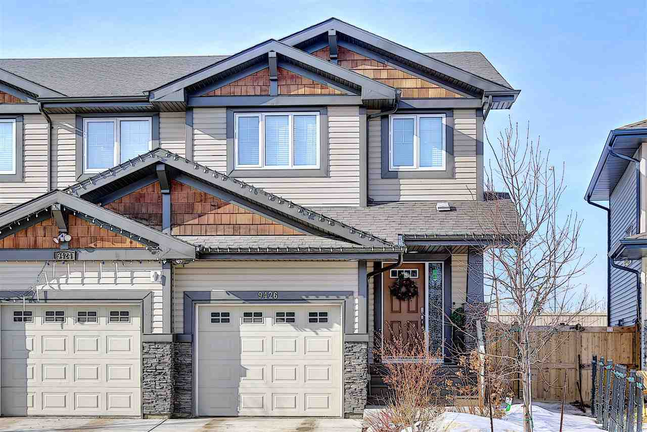 WELCOME TO THIS IMMACULATE 2015 BUILT 3 BED, 3 BATH 2 STOREY 1300+ SQ. FT. DUPLEX! The main floor boasts a front foyer area, 2 piece bathroom, a spacious eating nook, pantry, UPGRADED GRANITE counter tops and KITCHEN CABINETS! Upstairs you will find a LARGE MASTER BEDROOM with its 4 piece en-suite, including DOUBLE VANITIES, and a generous walk in closet.  Features 9FT CEILINGS, CENTRAL AIR CONDITIONING, attached single garage, back deck, and MASSIVE landscaped back yard. A MUST SEE!!
