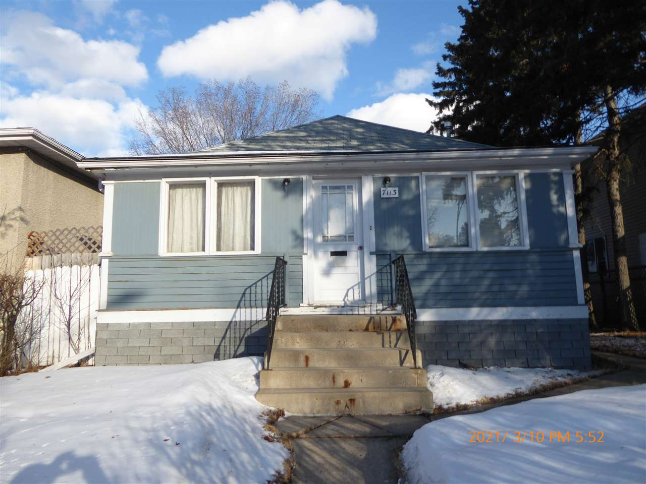 1914 Bungalow  on a 40' x 160' lot - Best use - Infill property - Queen Alexandra Neighborhood. 2nd best use possibility - 'Handyman Special/Fixer-Upper'. Deep lot with good Double Detached garage at the back. For Sale 'as is, where is' at the time of possession. House and garage. Estate Sale currently proceeding through Probate.