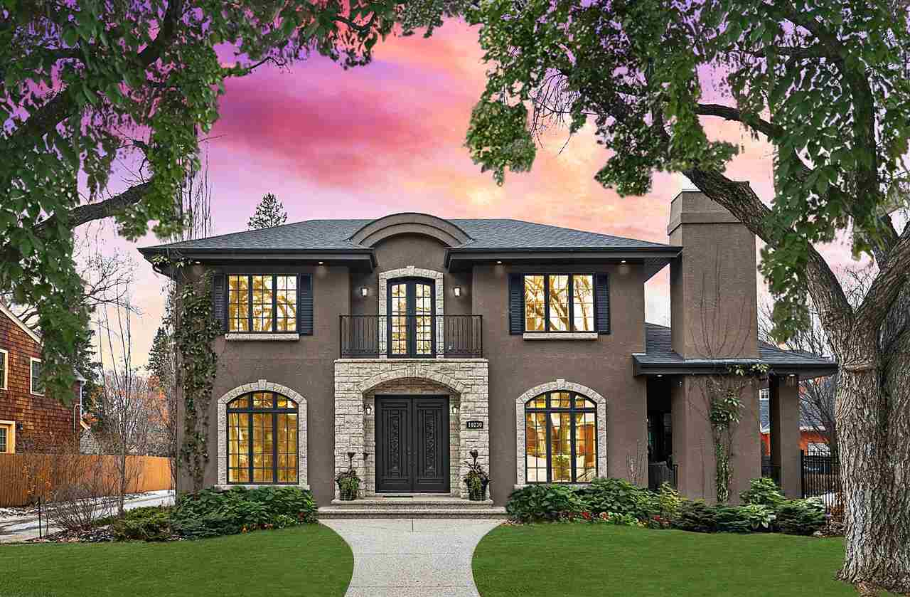 Old Glenora Beauty! Gorgeous infill built by Heredity Homes.  Located just steps from Alexander Circle. This is a perfect marriage of the old with the new!  Enjoy the efficiencies, comfort, and appearance of a new home while nestled into one of the oldest and most highly sought after neighborhoods in Edmonton.  Timeless elegance with exquisite details throughout.  Main floor includes architectural double front doors, 10? ceiling, 8? interior doors, 4-wide garden doors, arched windows, luxurious hand-scraped hardwood floors, spiral staircase, & top-quality millwork.  Downstairs is complete with a fully-finished basement, wet-bar & fridge, theatre room, a guest bedroom, 4pce bath, in-floor heating. Outside is complete with a rare double attached garage, acrylic stucco with gorgeous stone accents, lush landscaping & irrigation, an outdoor fireplace, and patio area- Excellent for entertaining. Luxury is in the details ? and every detail has been perfected!