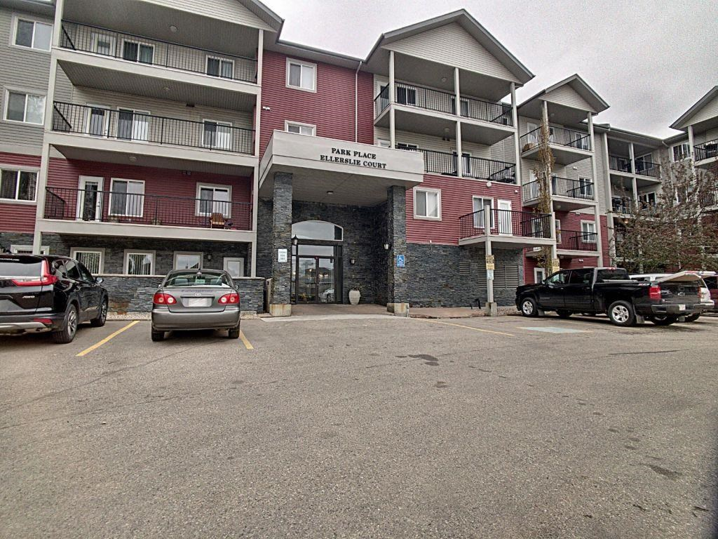 Welcome home to Park Place Ellerslie Court! Excellent for first time buyers or an investment opportunity. This immaculate and beautifully upgraded 1 bed/1bath unit is sure to impress. The bedroom is large with plenty of natural light, the generous sized living room boasts ample room for a desk/office space, bright white kitchen, newer fridge and IN-SUITE LAUNDRY. The spacious and quiet balcony overlooks trees and single family homes with plenty of room for patio furniture to enjoy the outdoor space. Surrounded by plenty of walking trails and amenities. Close to schools and commuting is easy with quick access to Ellerslie Road and Anthony Henday to make your commute a breeze! Move in ready and pride in ownership is clear - all that is missing is you!