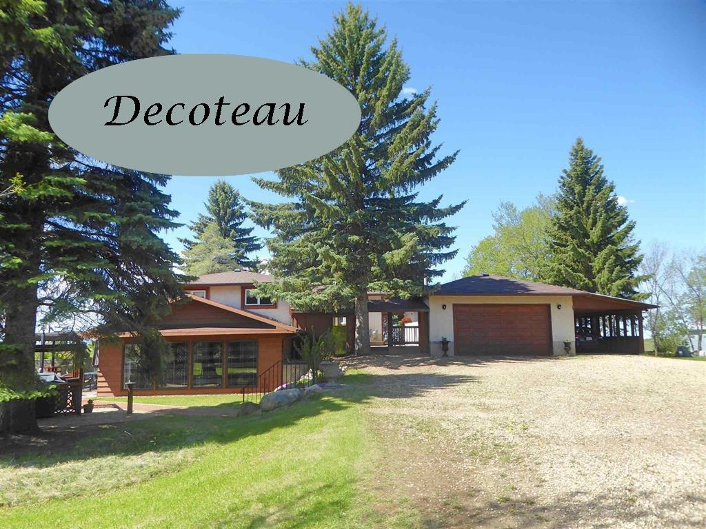 """Terrific opportunity in Decoteau!  Welcome to this beautifully maintained property on 9.98 acres of land within the scope of the city of Edmonton's proposed   """"Meltwater"""" Neighborhood Structure Plan!   Pride of ownership is evident throughout the property including the existing 1356 sqft 3(+1) bedroom bungalow with spacious living and dining rooms, an eat in kitchen, a spacious back entry and fully developed lower level including wonderful family room and media room additions(1989).   A sunny south patio, bbq area and gazebo are adjacent to these great entertaining areas!.  A breezeway and front patio area separate the house and the double attached garage with an attached carport.    There is also a huge workshop/machine shop with 220 wiring and a hay barn.  Improvements include shingles on the house(2018), furnace(2009), porch(2013), attic insulation and some newer windows.  Conveniently located just south of Ellerslie Rd and West of 34 Street this immaculate residence is a must to consider!"""