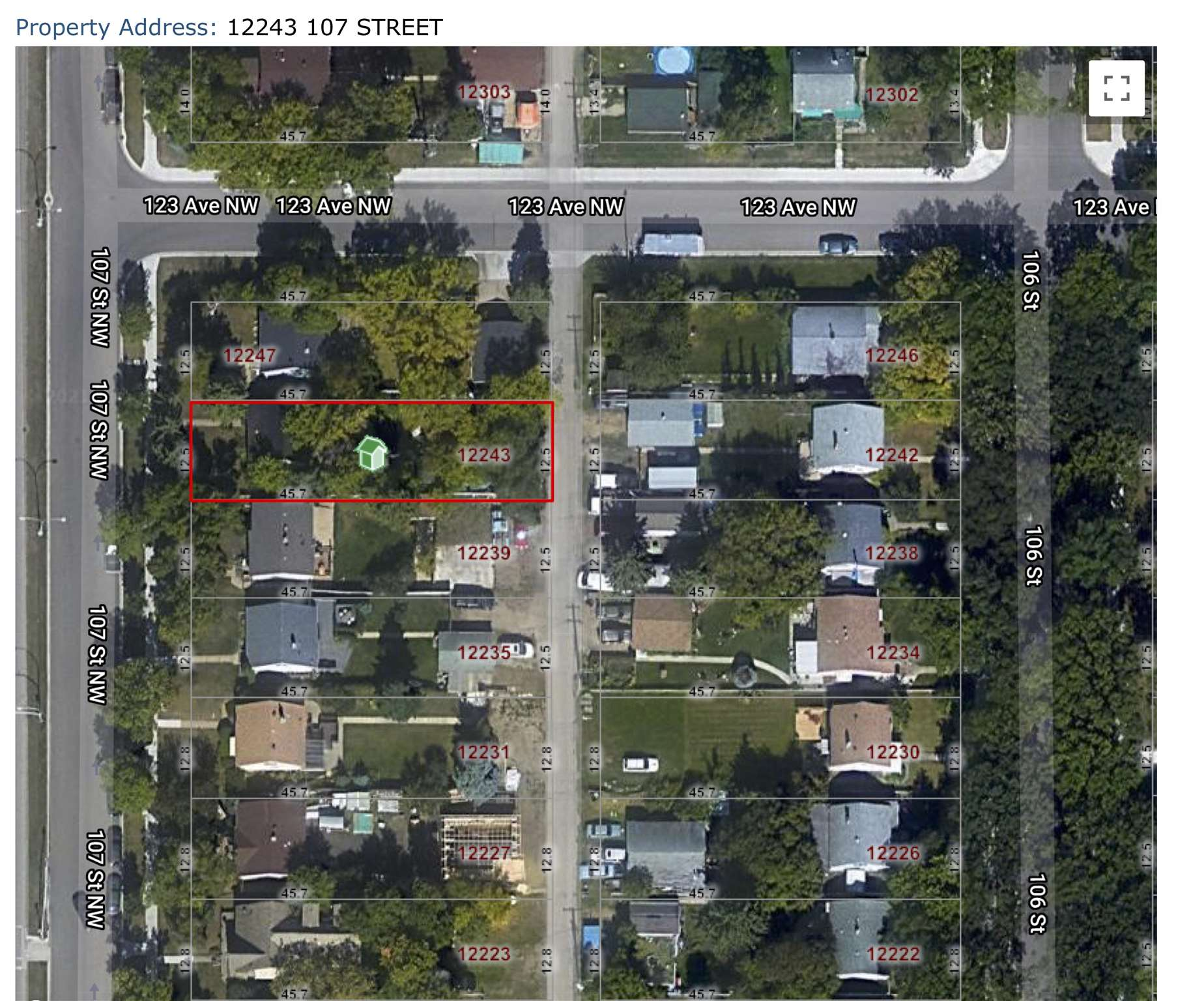 """Investment Opportunity near NAIT with this 41' x 150' lot.  This property has tremendous potential for infill and a great location being close to Kingsway LRT station, shopping & quick access to Yellowhead, downtown & Grant Macewan, but is being sold """"as-is, where-is"""" and at lot value.  It is currently zoned for RF1."""