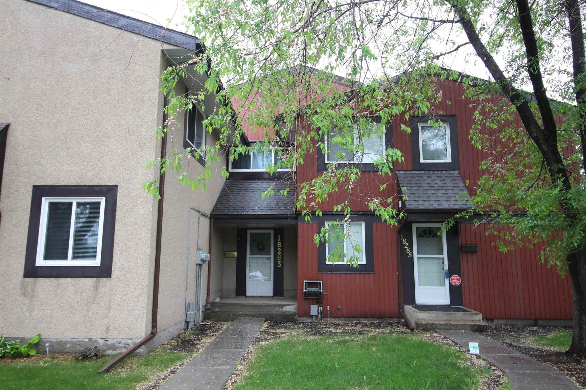 Great potential and affordable for first time home buyer! This townhouse is located in the West End with just minutes away from West Edmonton Mall, schools, parks, Anthony Henday and Whitemud Freeway. This home offers 3 bedrooms, 1.5 bathrooms, walk through kitchen connecting to your dinning room that opens up to your spacious living room. Basement is finished with a family room, laundry area and lots of storage room. It comes with 1 assigned outdoor energized parking stall. This complex has newer shingles, windows and lots of visitor parking space.