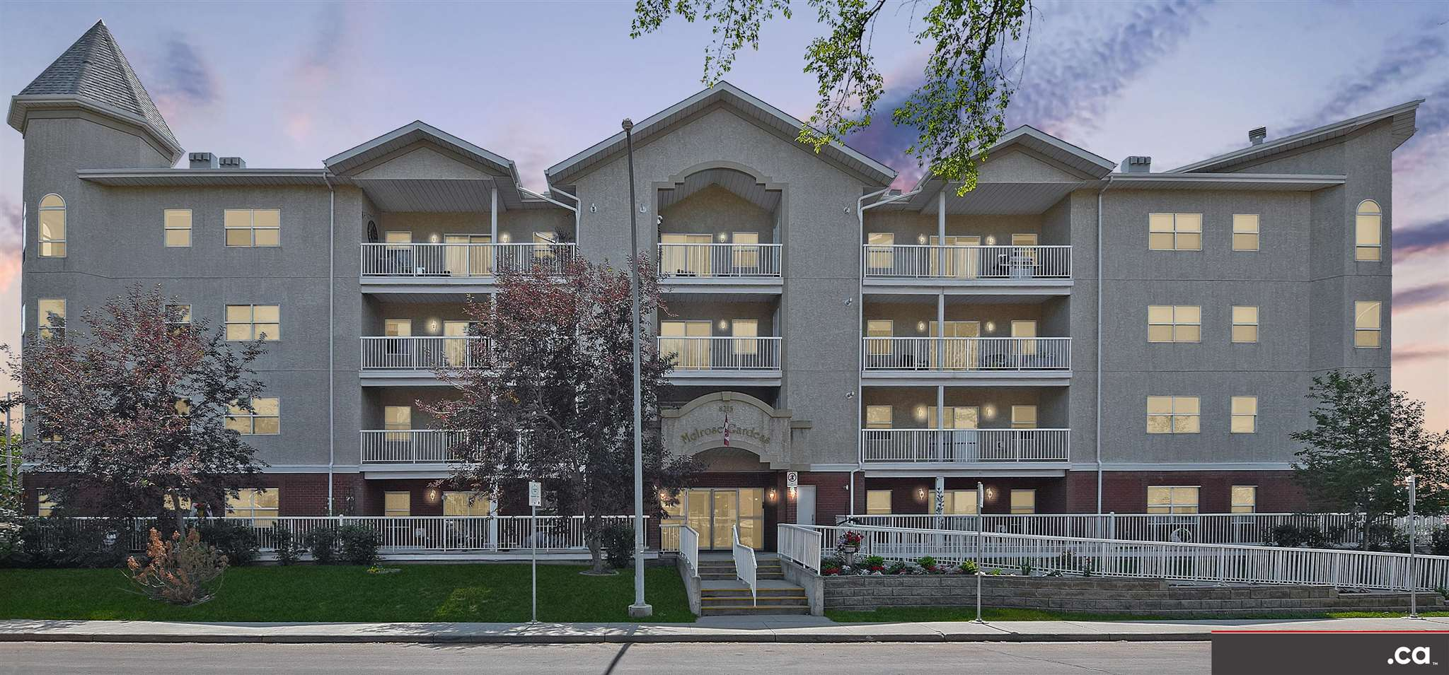 * ATTENTION SENIOR (AGE 50+) BUYERS: WONDERFUL CONDITION & FRESHLY PAINTED TWO-BEDROOM CONDO ACROSS FROM BONNIE DOON SAFEWAY AND FUTURE LRT!! Nice second floor layout includes separate kitchen and dining areas; living room with private balcony access; two bedrooms (with option to use one as an office or den); full bath with tub and shower; and in-suite laundry with new washer. Melrose Gardens Condominium features a large social room with kitchenette; lobby waiting area with couches; underground parking, storage, and car wash; Canada Post outgoing mail / parcel box; secure entry door; fire sprinkler system; nice front landscaping; and wheelchair accessible ramp. Convenient access to shopping; banking; medical / dental / optometry; barber / hairdresser; library; and recreation (bowling, swimming). Immediate possession!!