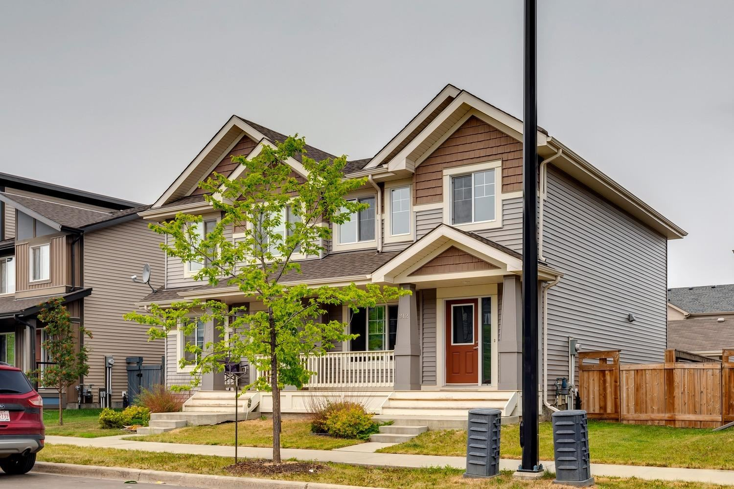 Welcome to the energetic community of Desrochers! Why build when you can just move in and enjoy this 1320+ sqft energy efficient duplex. The main floor offers an open floor plan, spacious kitchen w/large island, s.s. appliances, and premium cabinetry. Large living area w/bright windows, spacious dining area that leads to your fully fenced/landscaped yard w/deck. Upstairs you will find 3 good sized bedrooms including the master suite complete w/3-pc ensuite and walk-in closet, additional 4-pc bath, and laundry area. Front porch area, double garage, and more. Located close to schools, walking trails, shopping, and other amenities. Great value in an better area!