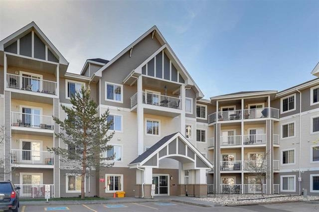 Nicely upgraded and very well maintained condo in south Edmonton! This bright 877 sqft, 2 bed/2 bath unit offers an open living area, spacious kitchen, ample dining space, master suite w/walk-through closet and 3-pc ensuite, good sized 2nd bedroom, in-suite laundry/storage area, covered patio w/gasline, and titled underground parking! Recent upgrades include: flooring, paint, fixtures, backsplash, and more! Well managed complex w/exercise and social rooms. Low condo fees! Great location close to schools, greenspace, shopping, Meadows Rec Centre, Whitemud/Anthony Henday, and other amenities. Perfect for first time buyer, investor, young couple/professional. Great value!