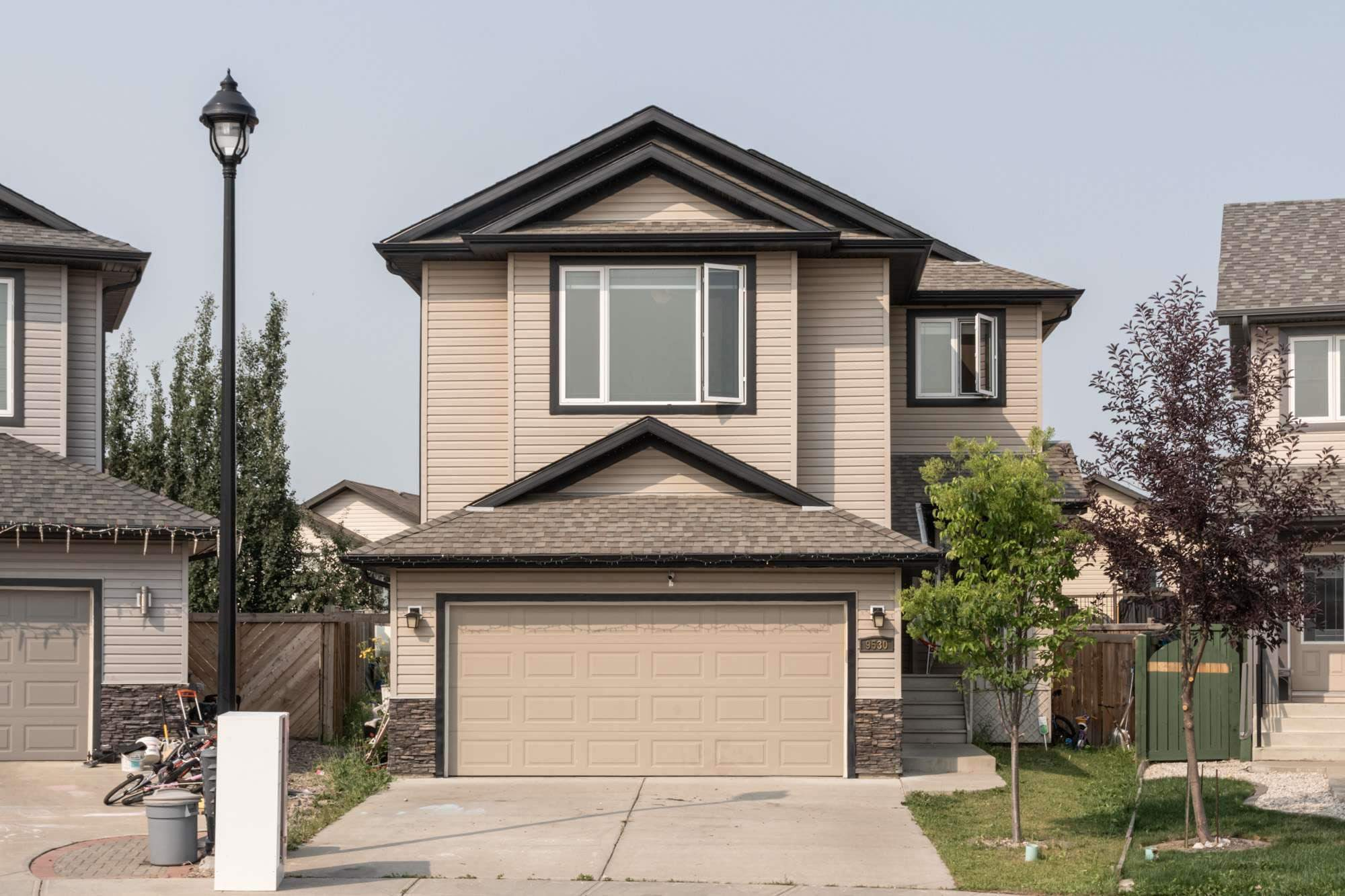 WAIT! STOP! This is the one you've been waiting for. Ideally located in a CUL-DE-SAC on a LARGE PIE SHAPED LOT this well laid out 2 storey home is beckoning for a new family to settle in. Great floor plan & upgraded in a quiet cul-de-sac close to school & transit. With 2300SF above grade, main floor den, walk through pantry, and to-die-for master bedroom - prepare to fall in love. Features hardwood and tile throughout the main floor plus plush upgraded newer carpet on the 2nd level. MASSIVE BONUS ROOM upstairs. 9' ceilings, granite, extra & oversized windows throughout plus UNSPOILED BASEMENT WITH HEATED FLOORS awaiting your finishing touch. This Webber Greens gem is walking distance to schools, parks, golf course, shopping & public transit. Stony Plain Road, Whitemud & Anthony Henday are a short drive and easily transport you anywhere in the city you need to go.